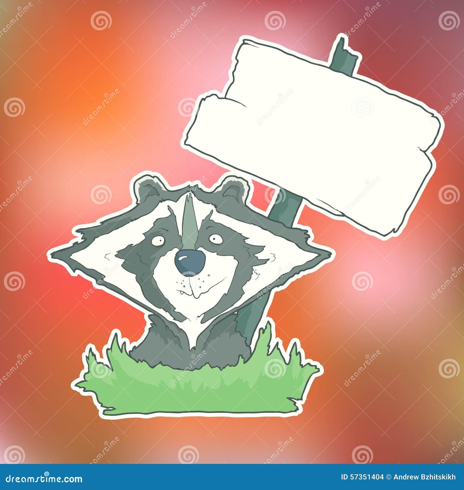 与木海报的漫画人物浣熊