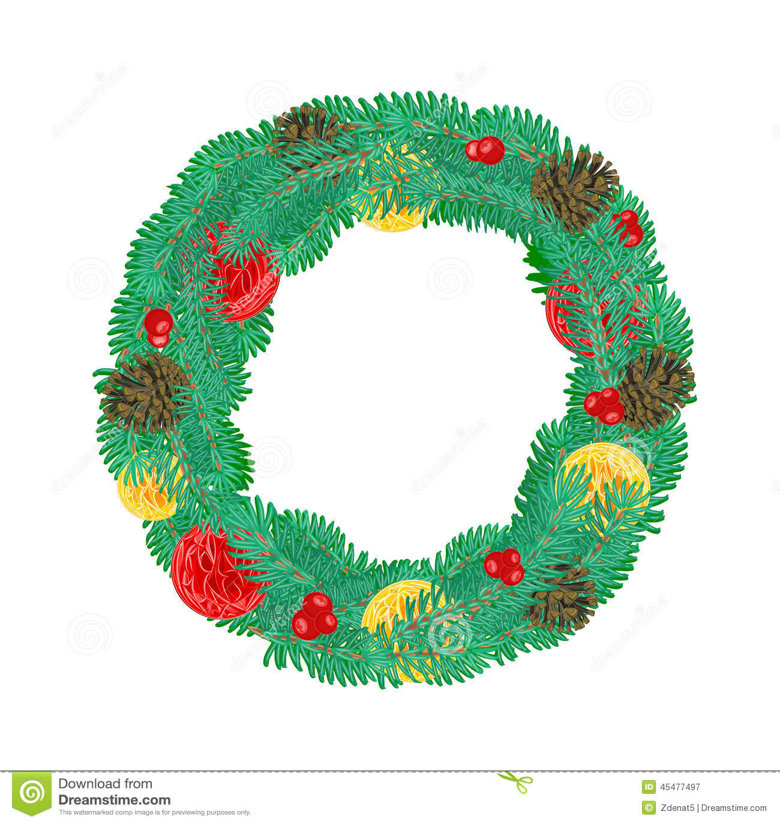 与杉木锥体传染媒介的圣诞节花圈