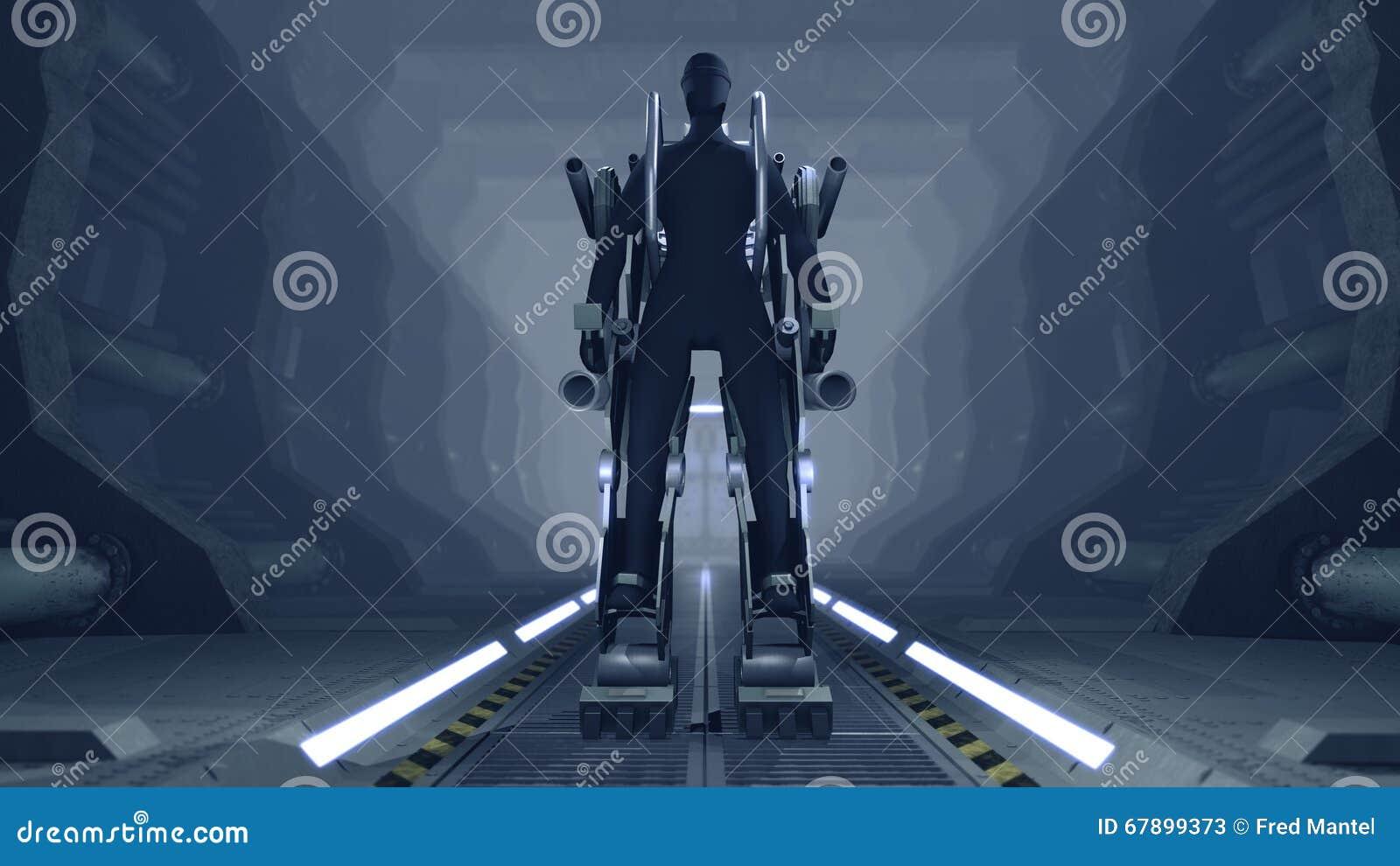 与枪的未来派机械生火