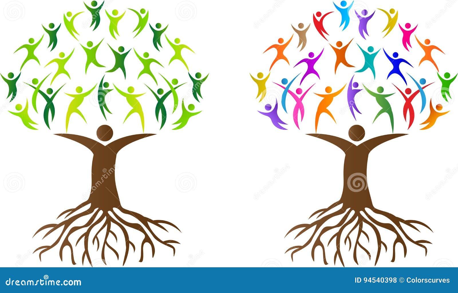 与根的抽象人树