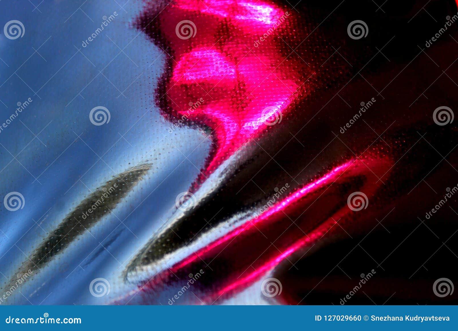 与桃红色光泽的黑布纹理从粗砺的皮革织品