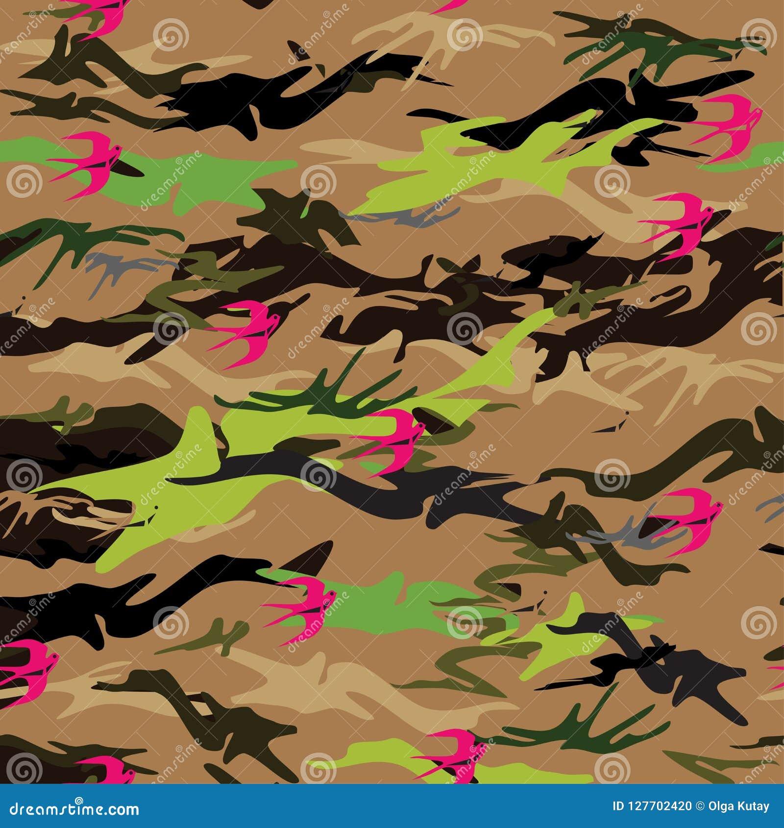 与桃红色飞行燕子的无缝的纹理