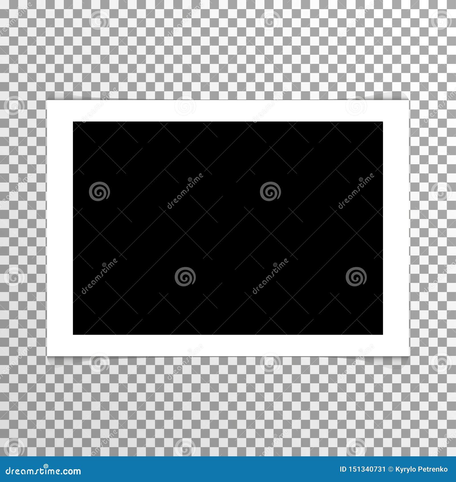 与框架传染媒介的现实简单的空白的照片