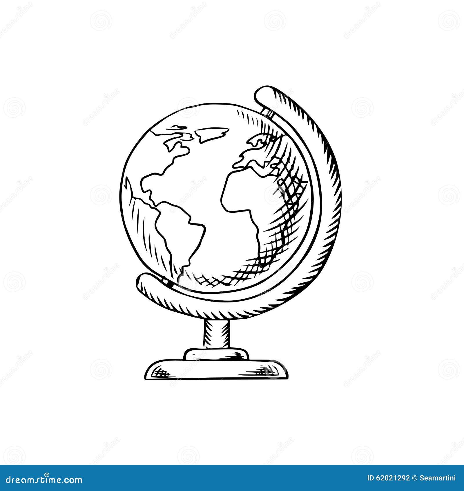 与大陆的现代地球,海洋和海桌面立场的,剪影象教育的或学校题材设计.