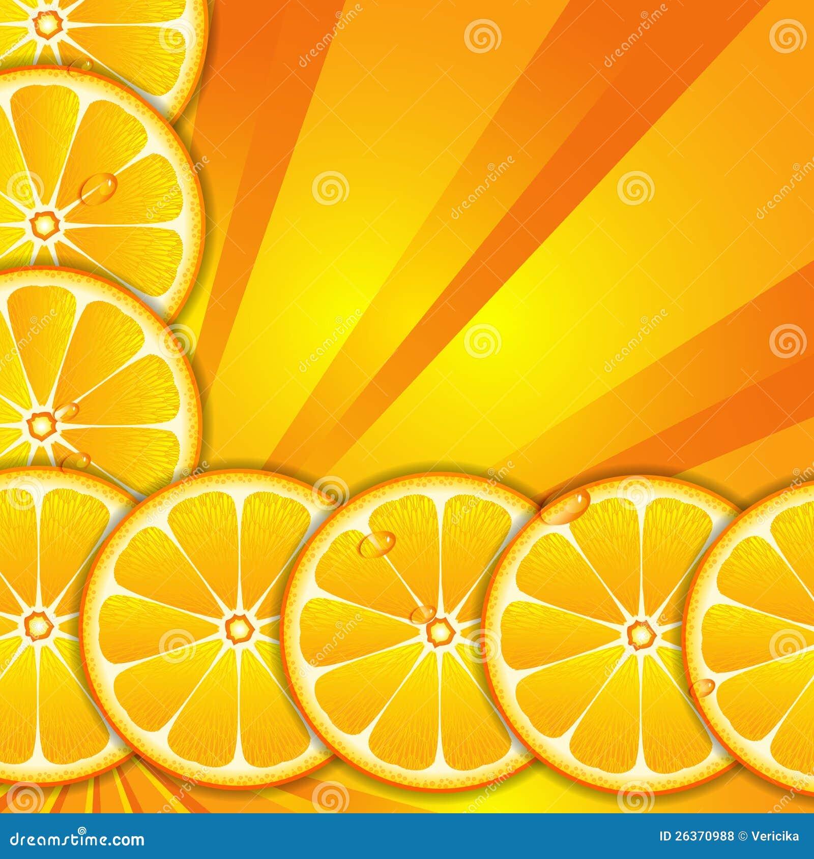 与橙色片式的背景