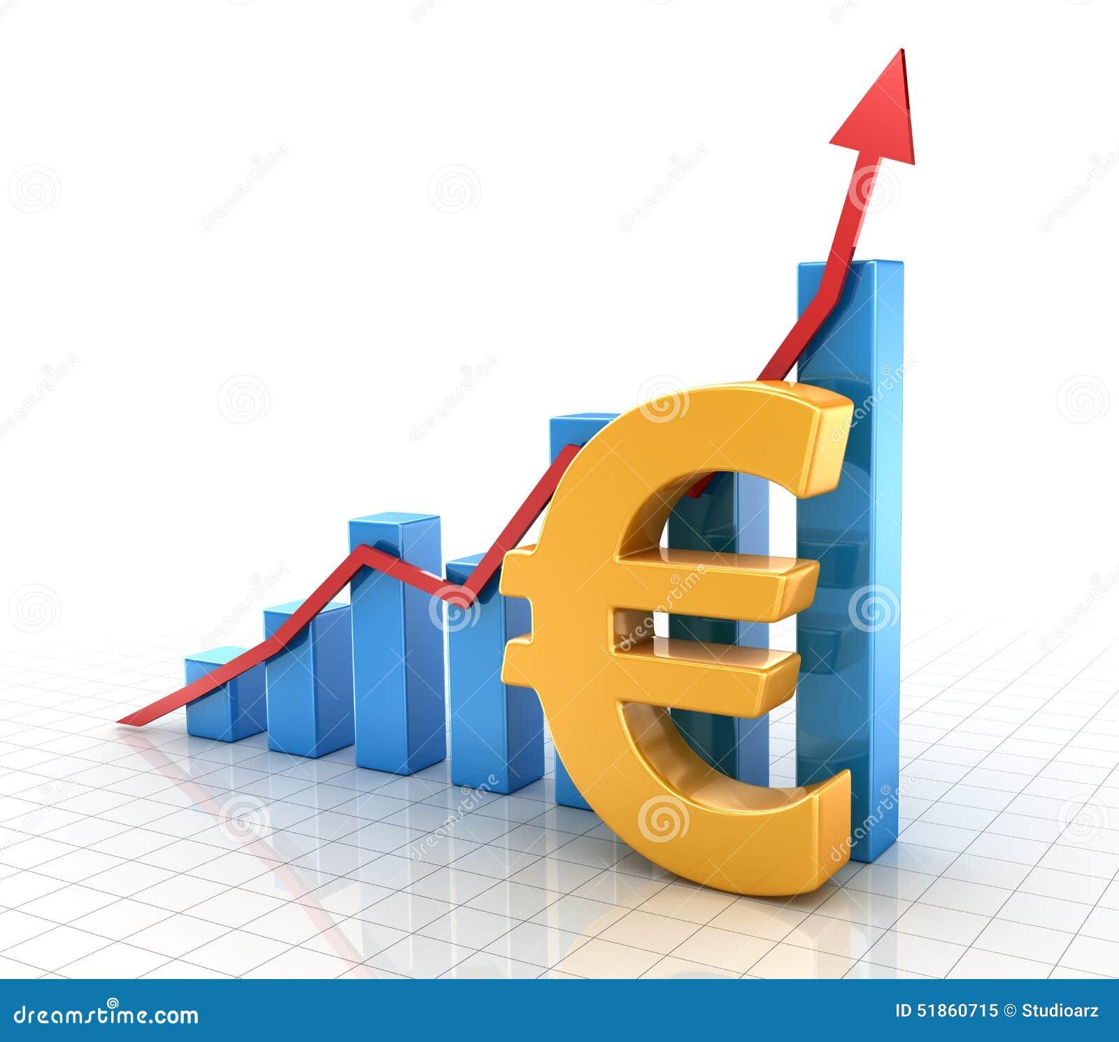 与欧洲标志和财务概念的企业图