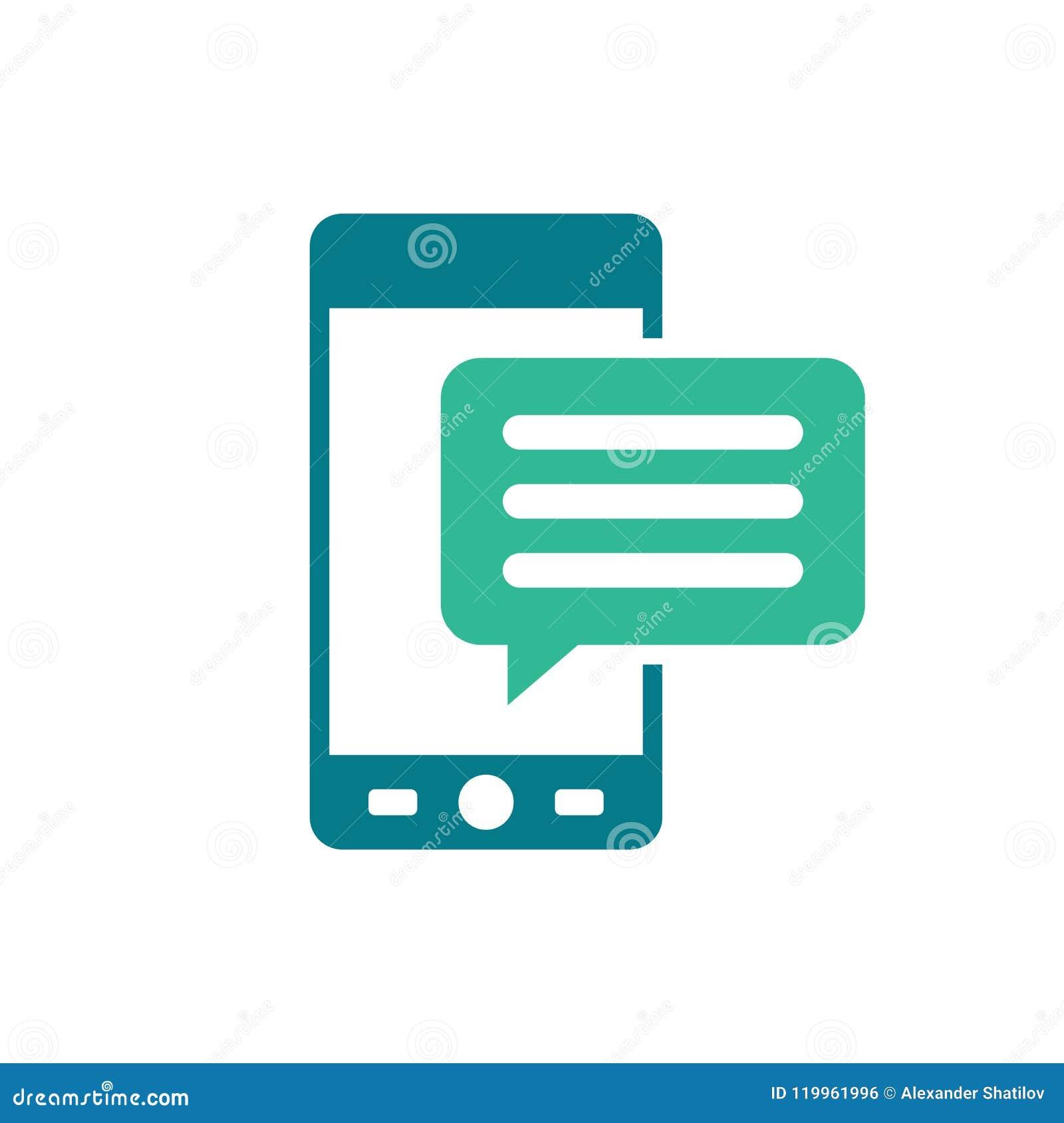 与正文消息-讲话泡影的流动象- sms和通信象-在白色隔绝的平的传染媒介例证