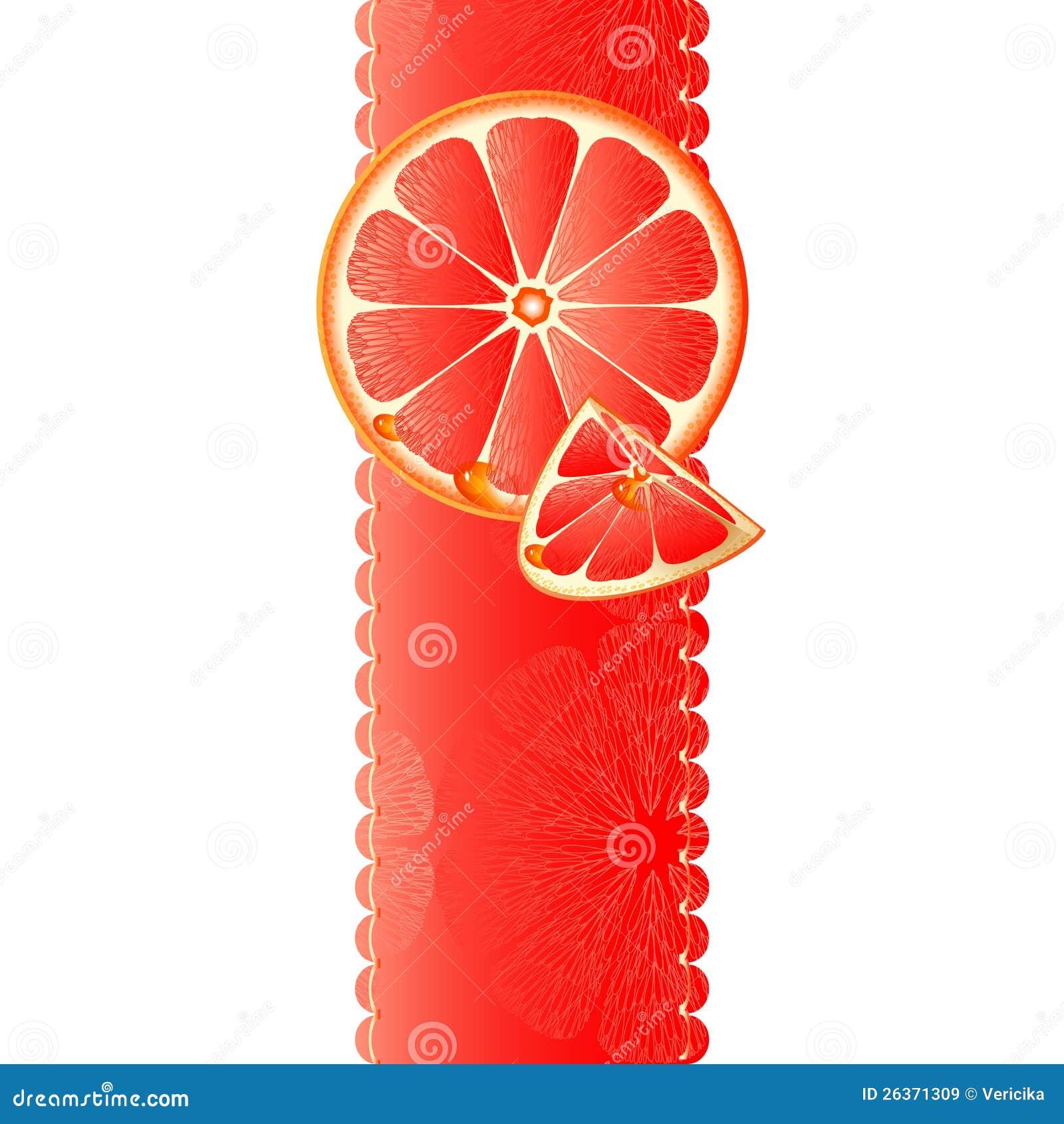 与水多的片式的横幅葡萄柚