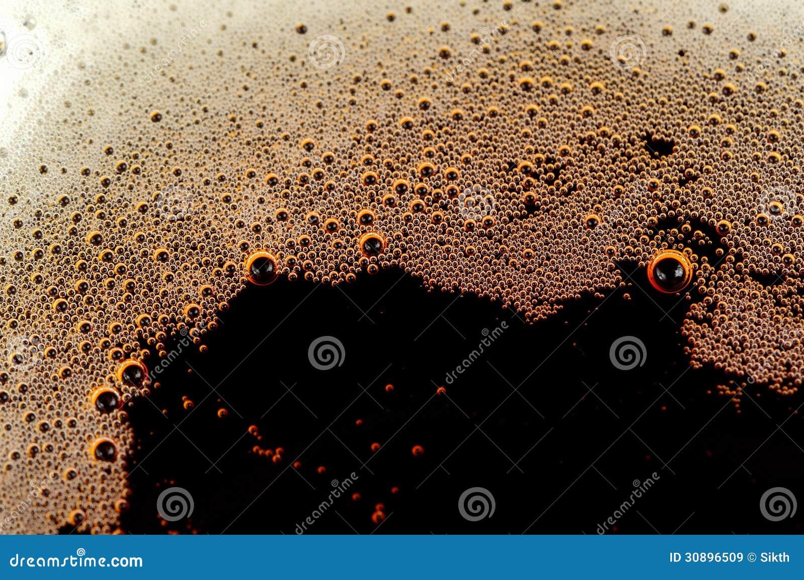 与泡影的泡沫腾涌的软饮料