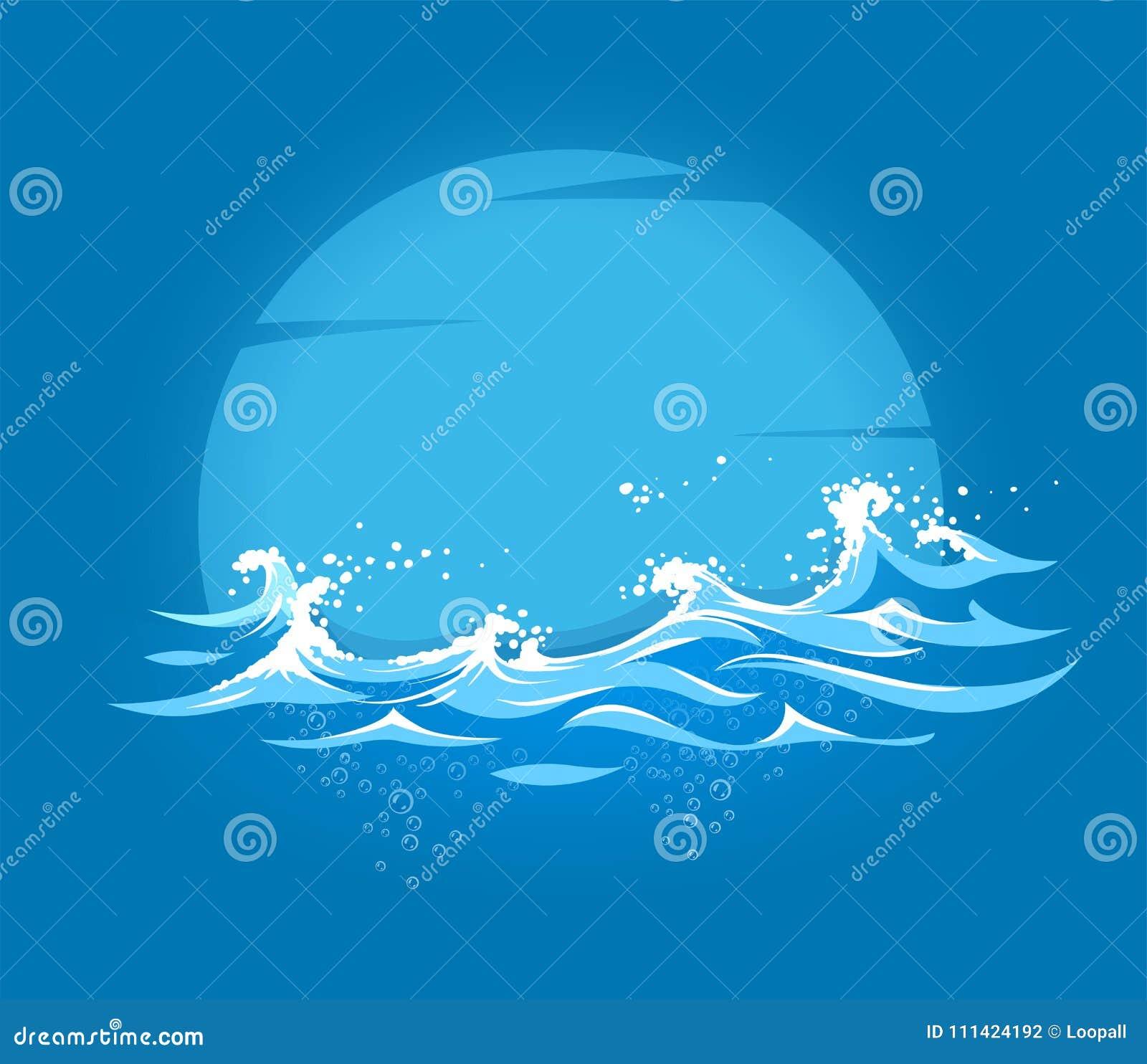 与泡沫的海和海洋海洋波浪
