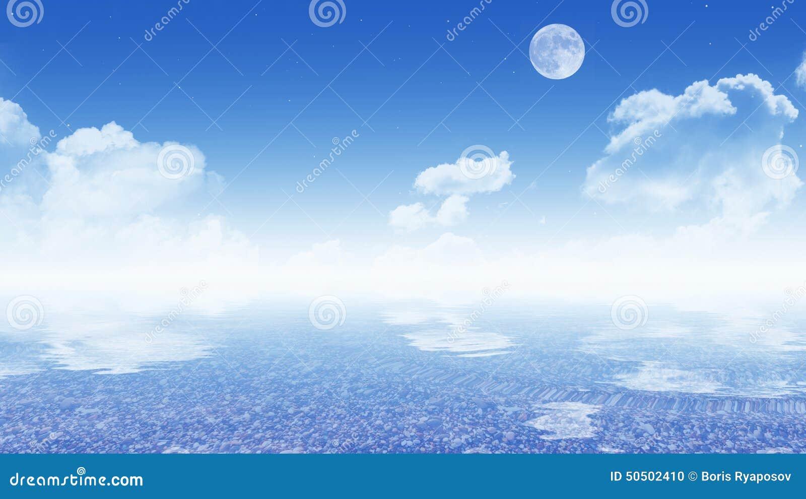 与海(16:9墙纸)的天空