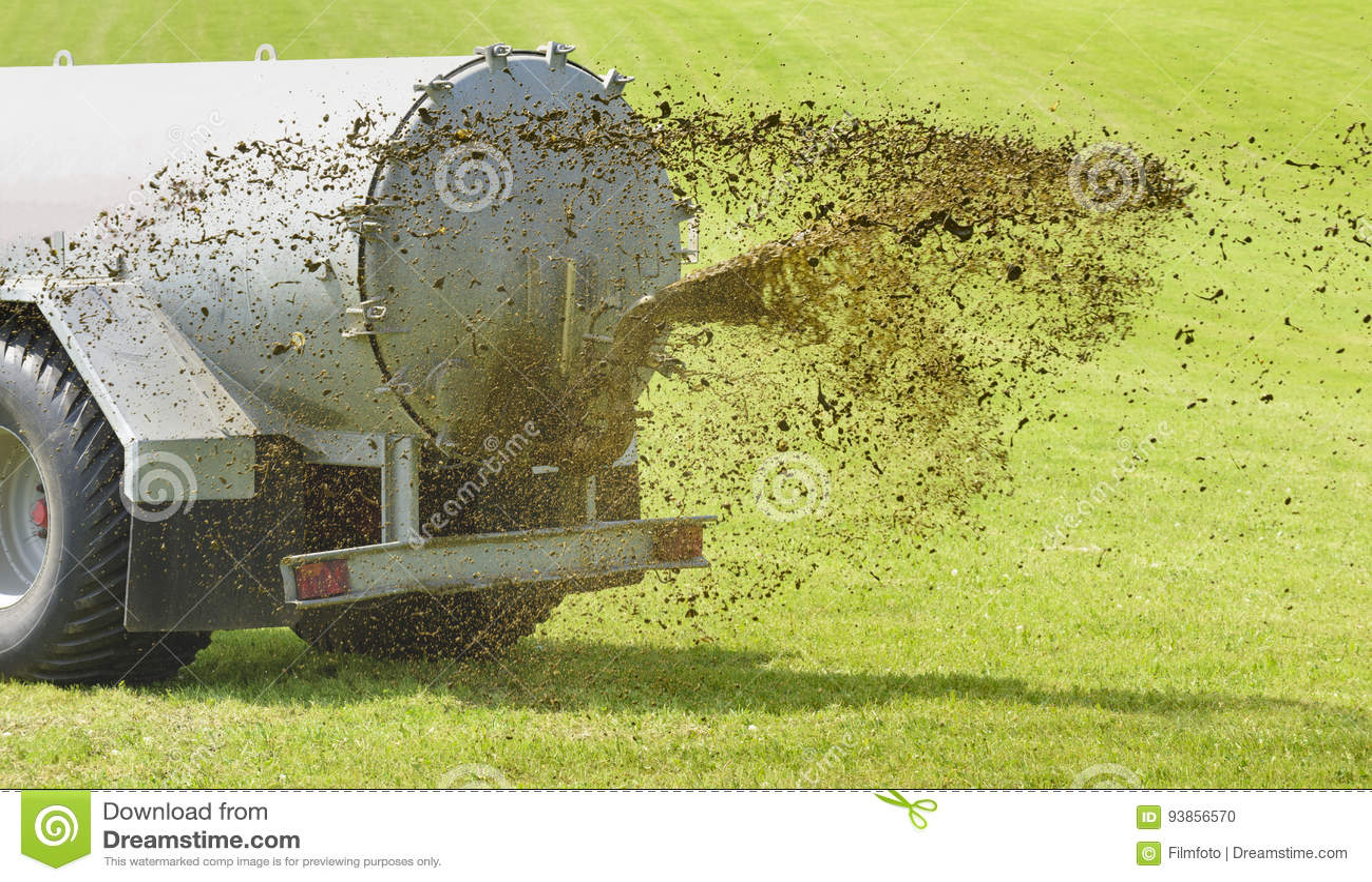与液体肥料的受精在草甸