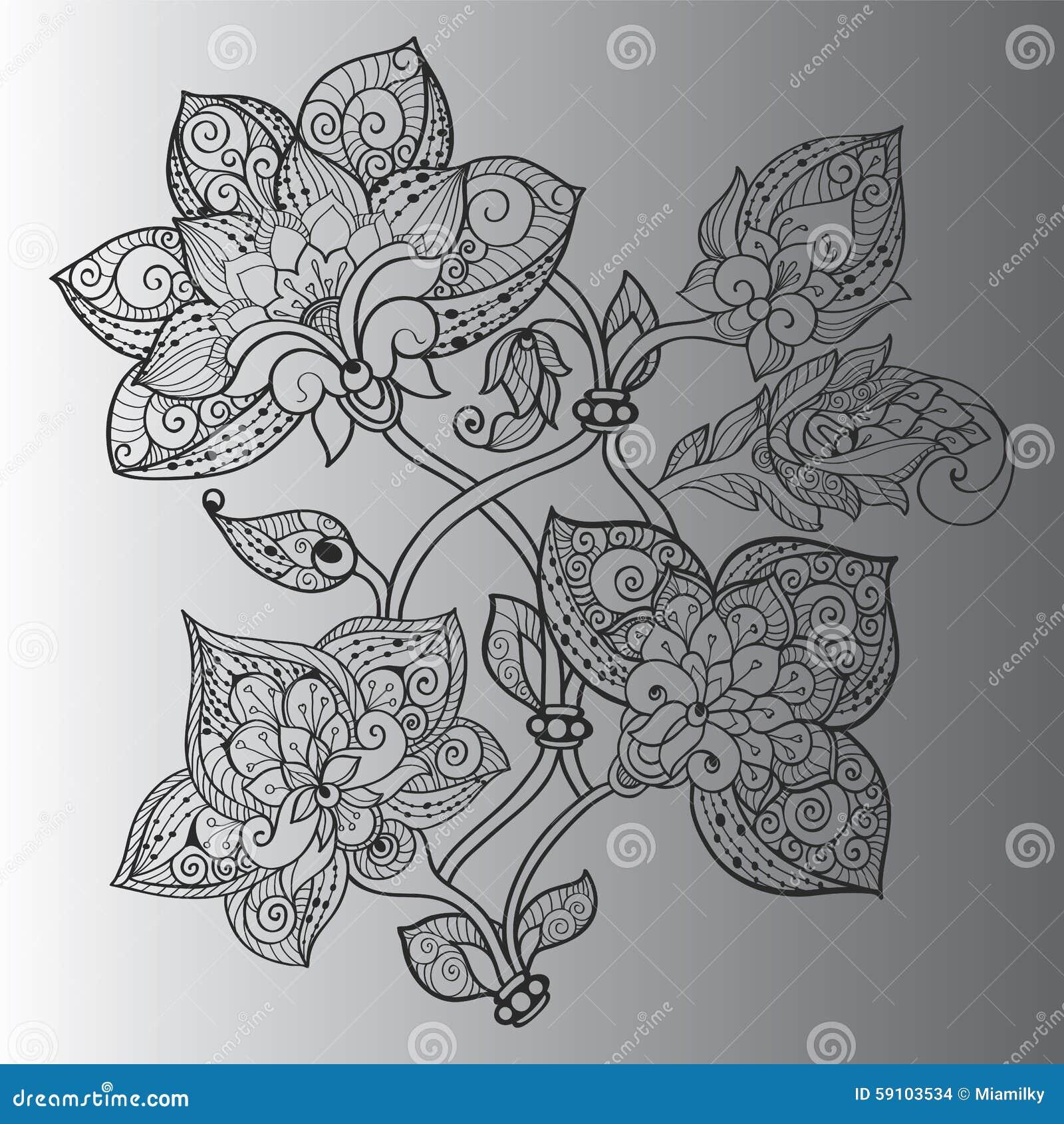 与漩涡的抽象花