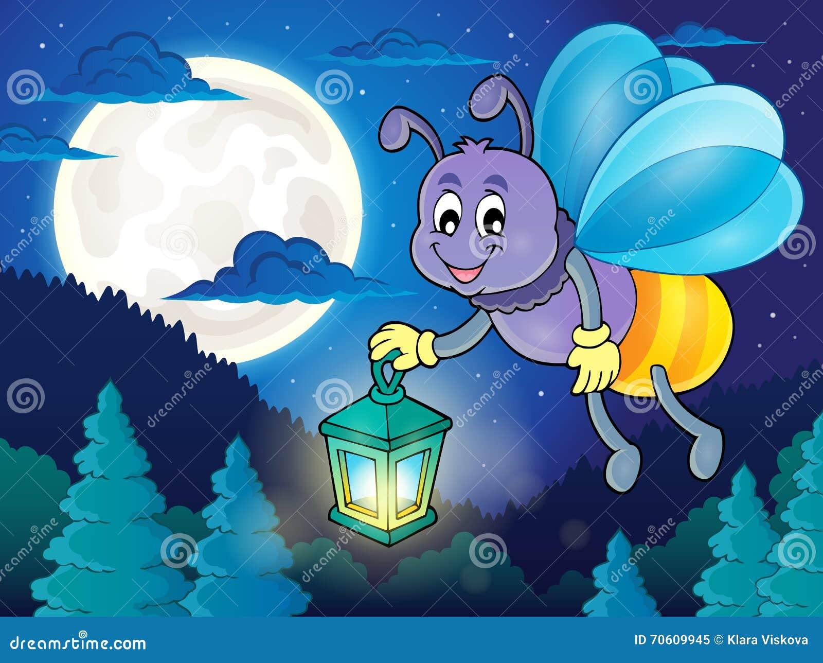 与灯笼题材图象2的萤火虫图片