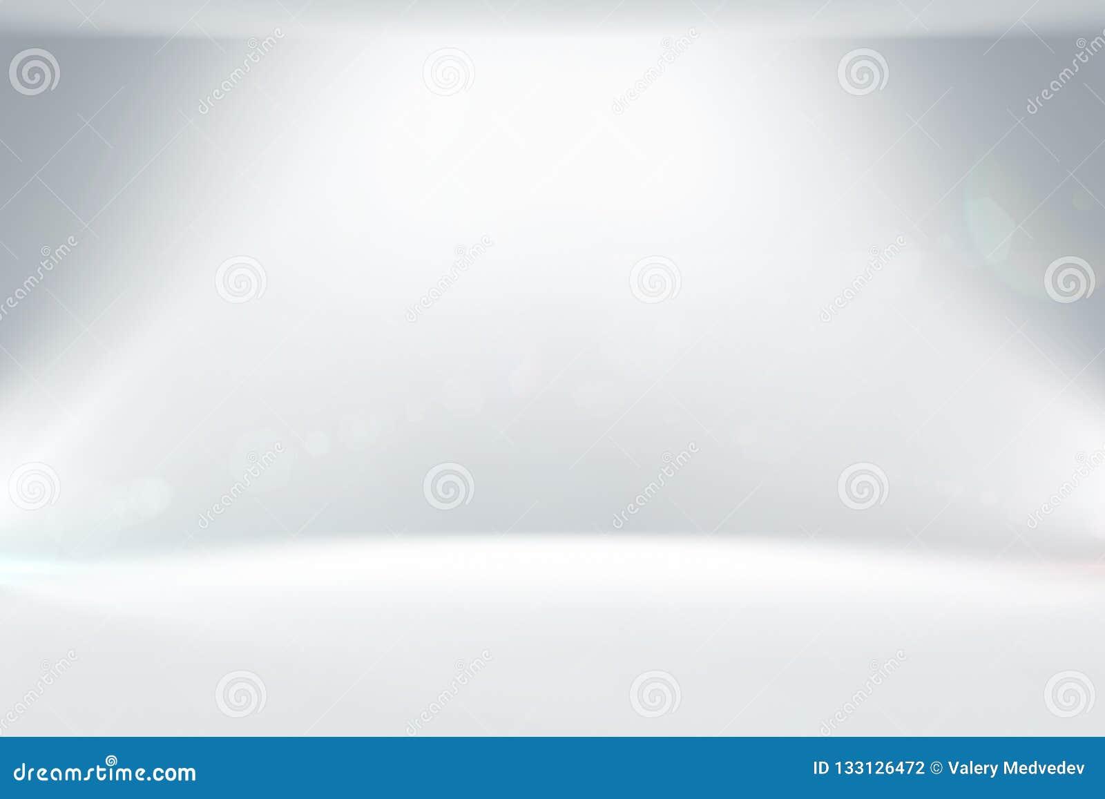 与照明的摘要干净的白光演播室背景