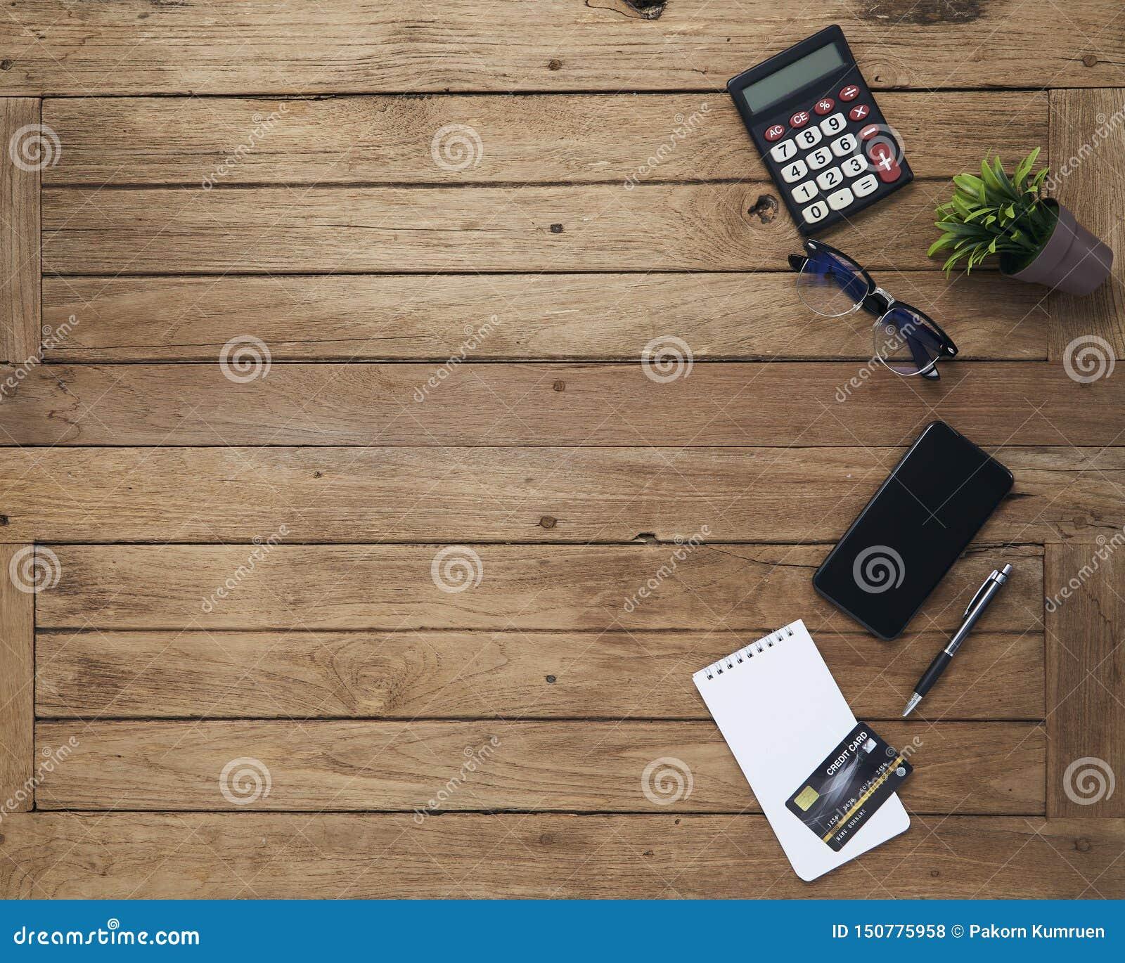 与片剂的事务桌