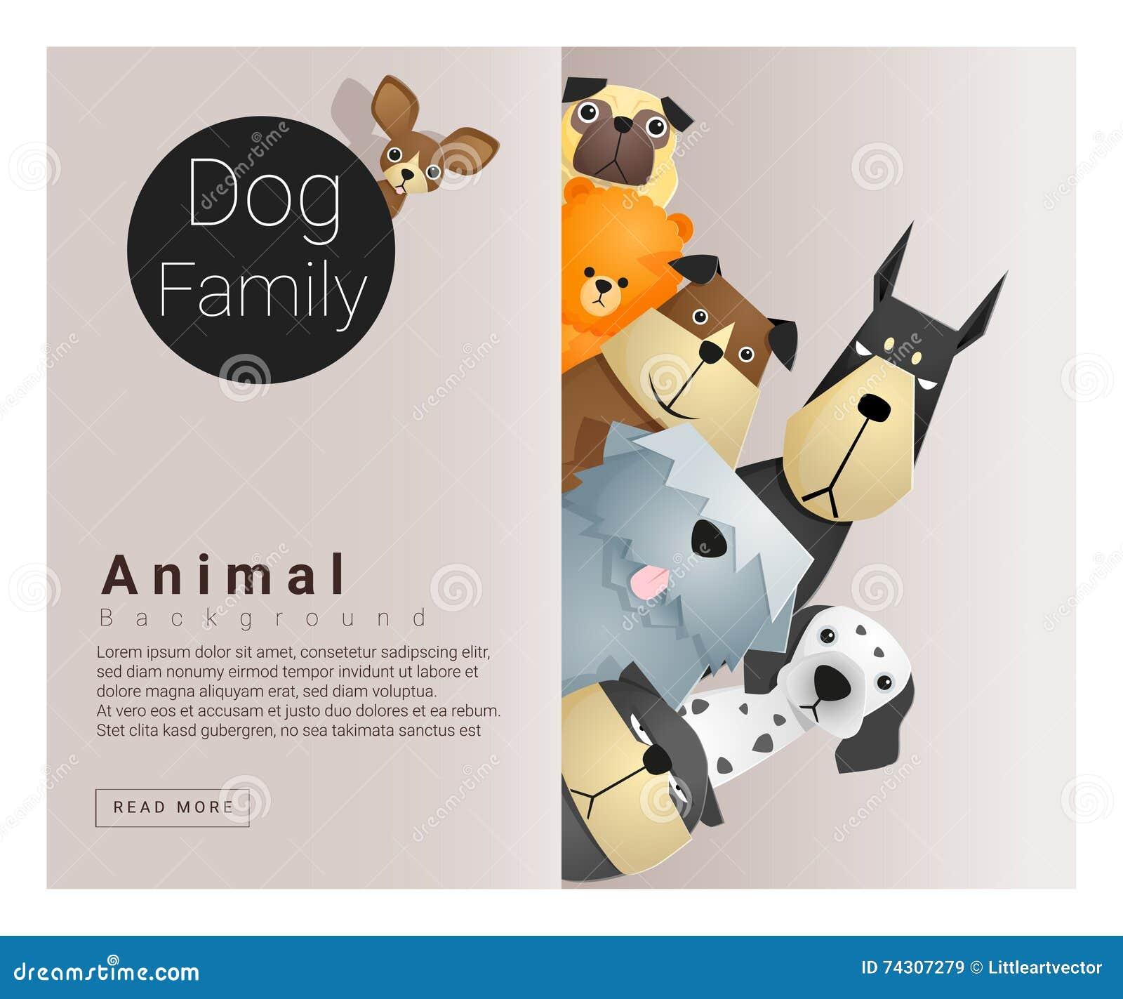 与狗的逗人喜爱的动物家庭背景