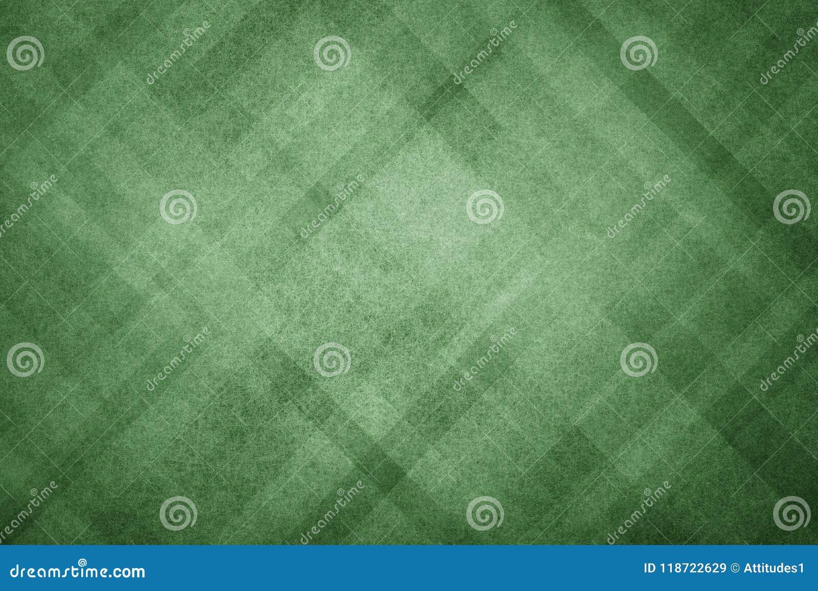 与现代几何样式设计和老退色的葡萄酒纹理的绿色抽象背景在黑暗的圣诞节颜色