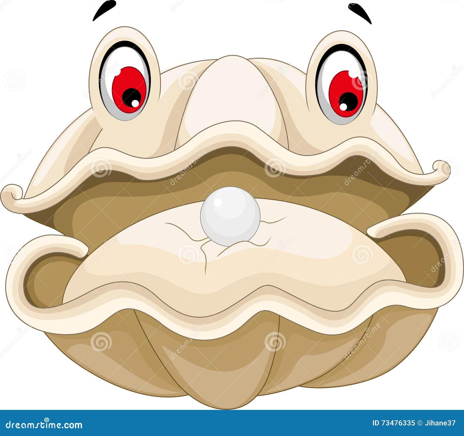 与珍珠动画片的牡蛎