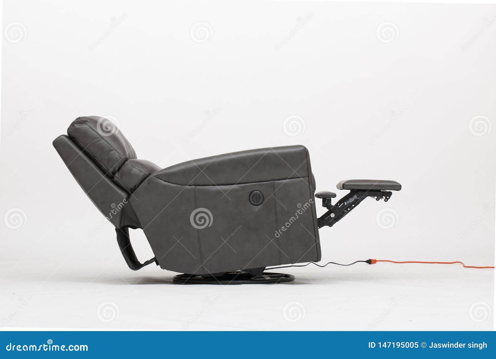 与白色背景影像的力量皮革可躺式椅椅子
