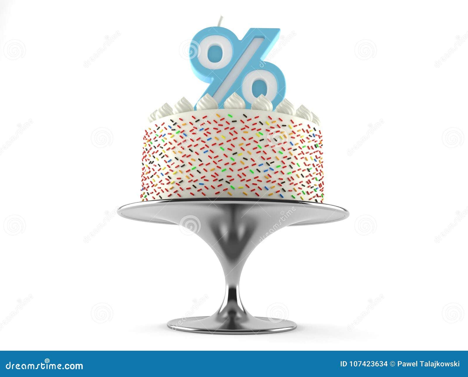 与百分之蜡烛的蛋糕