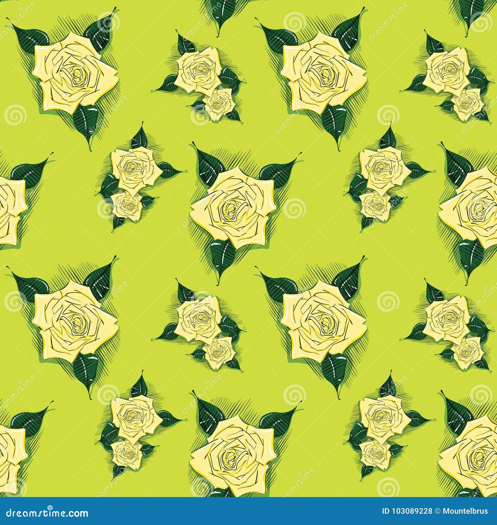 与的无缝的背景玫瑰
