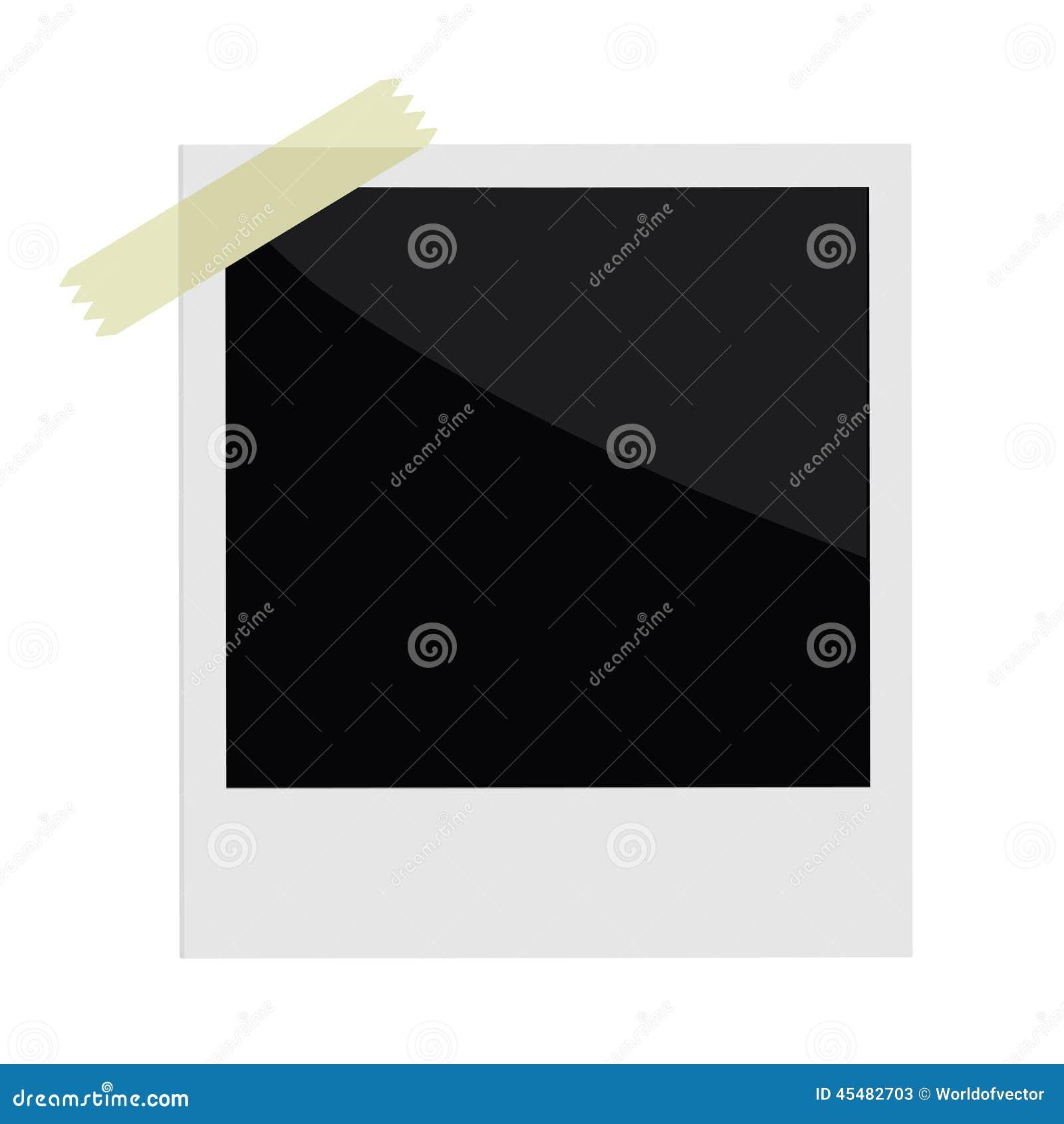 与磁带的被隔绝的立即照片在平的设计