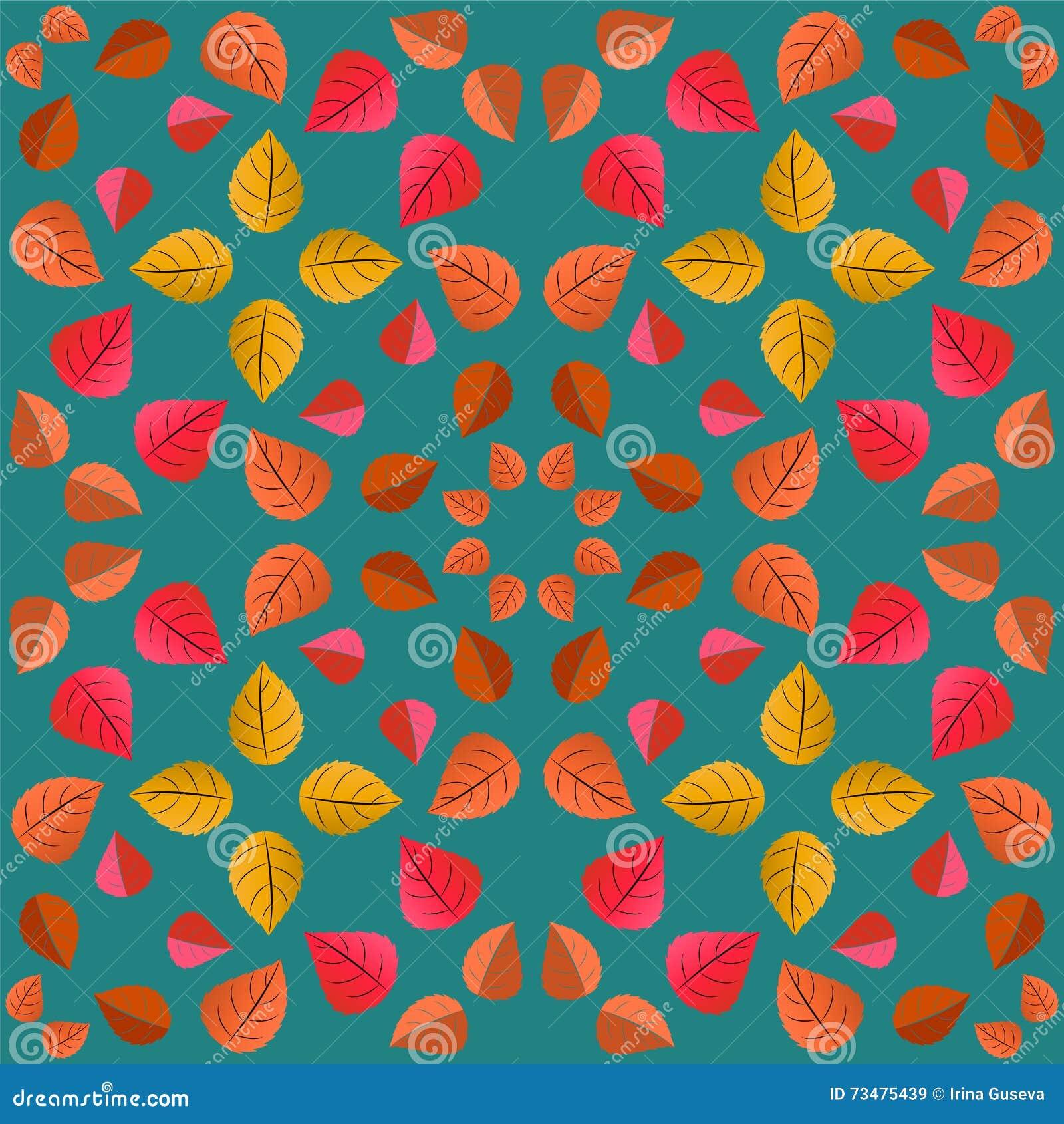 与秋叶的几何样式