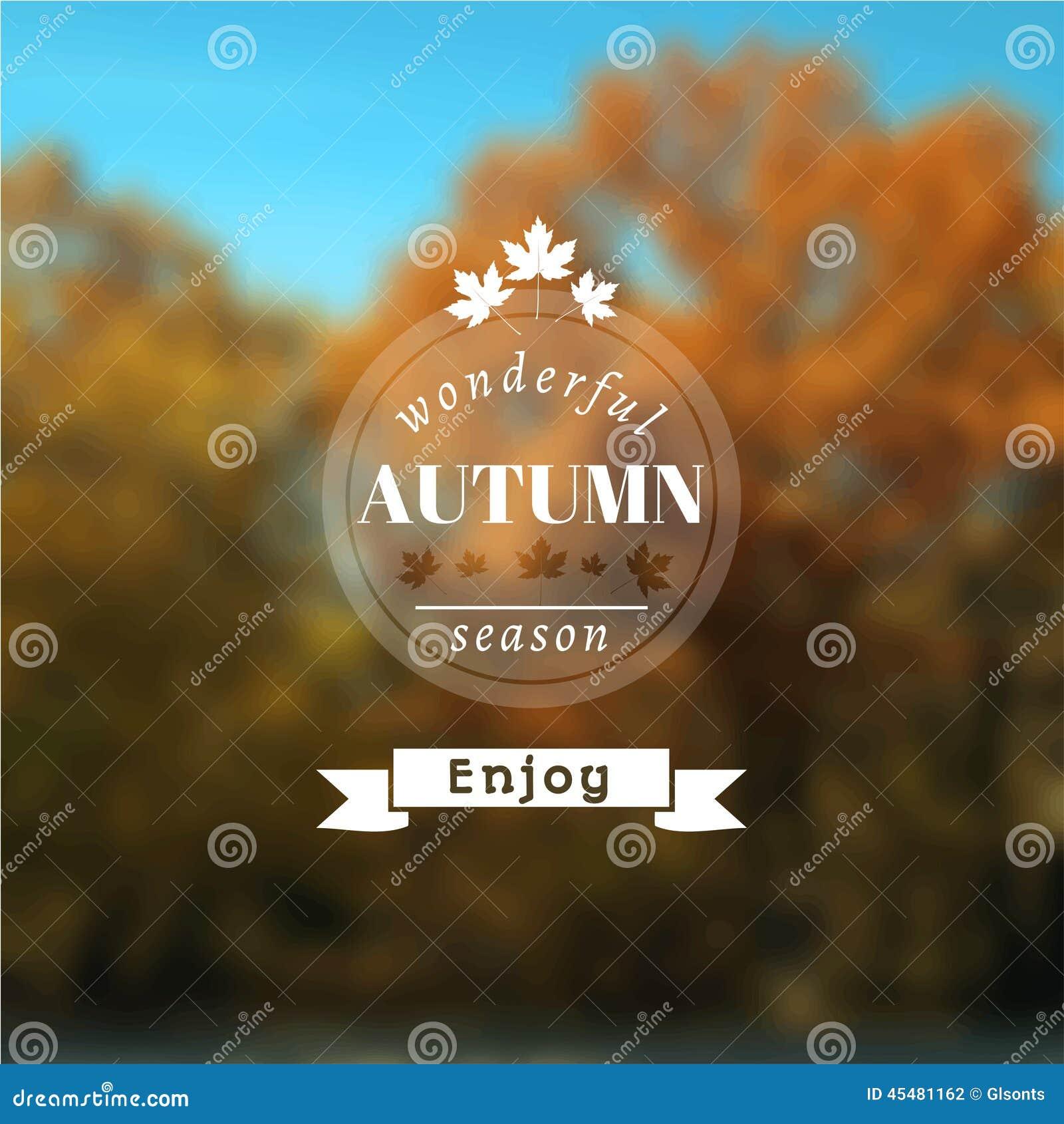 与秋天风景的海报 EPS, JPG