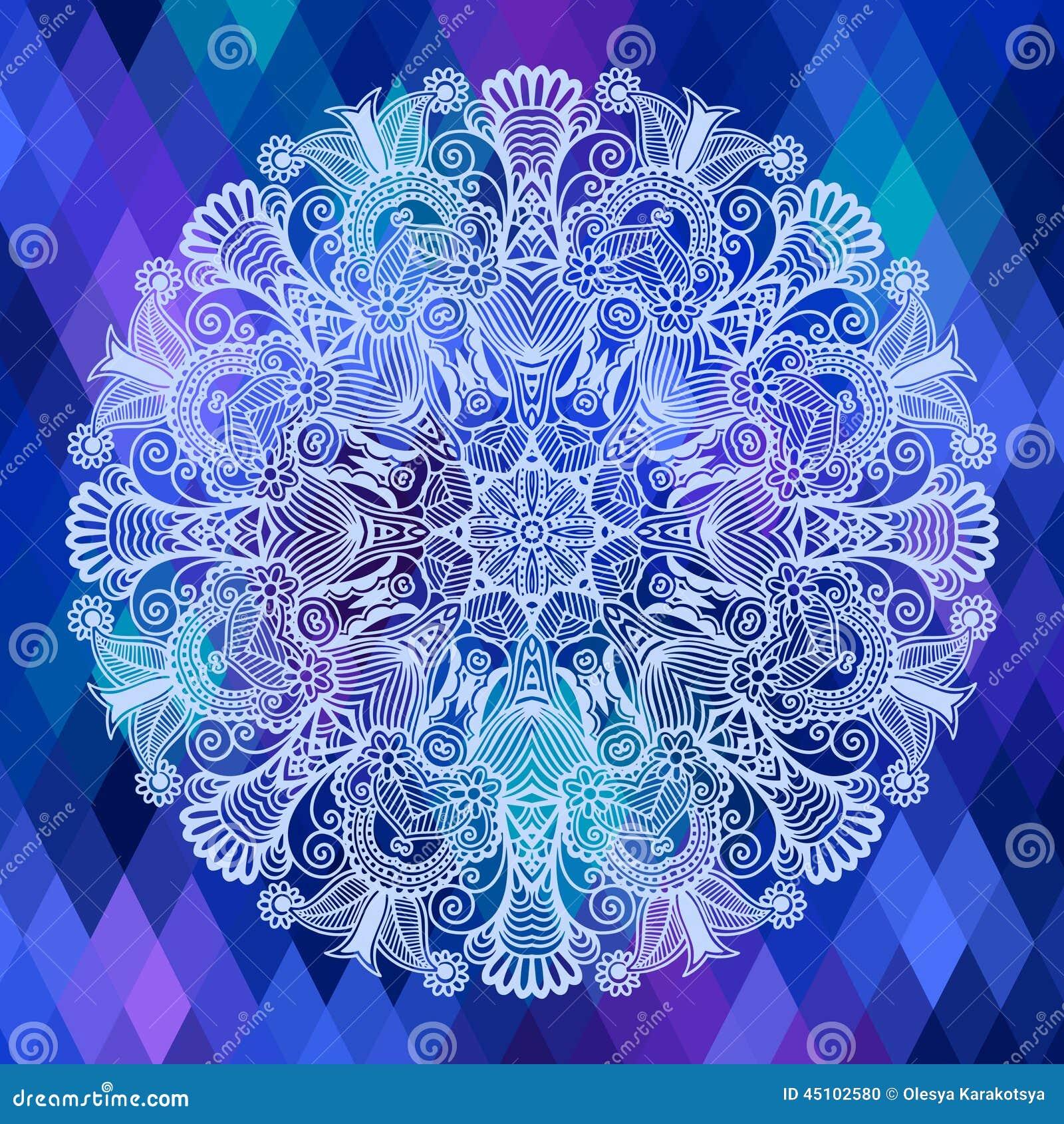 与种族花的方形的几何构成