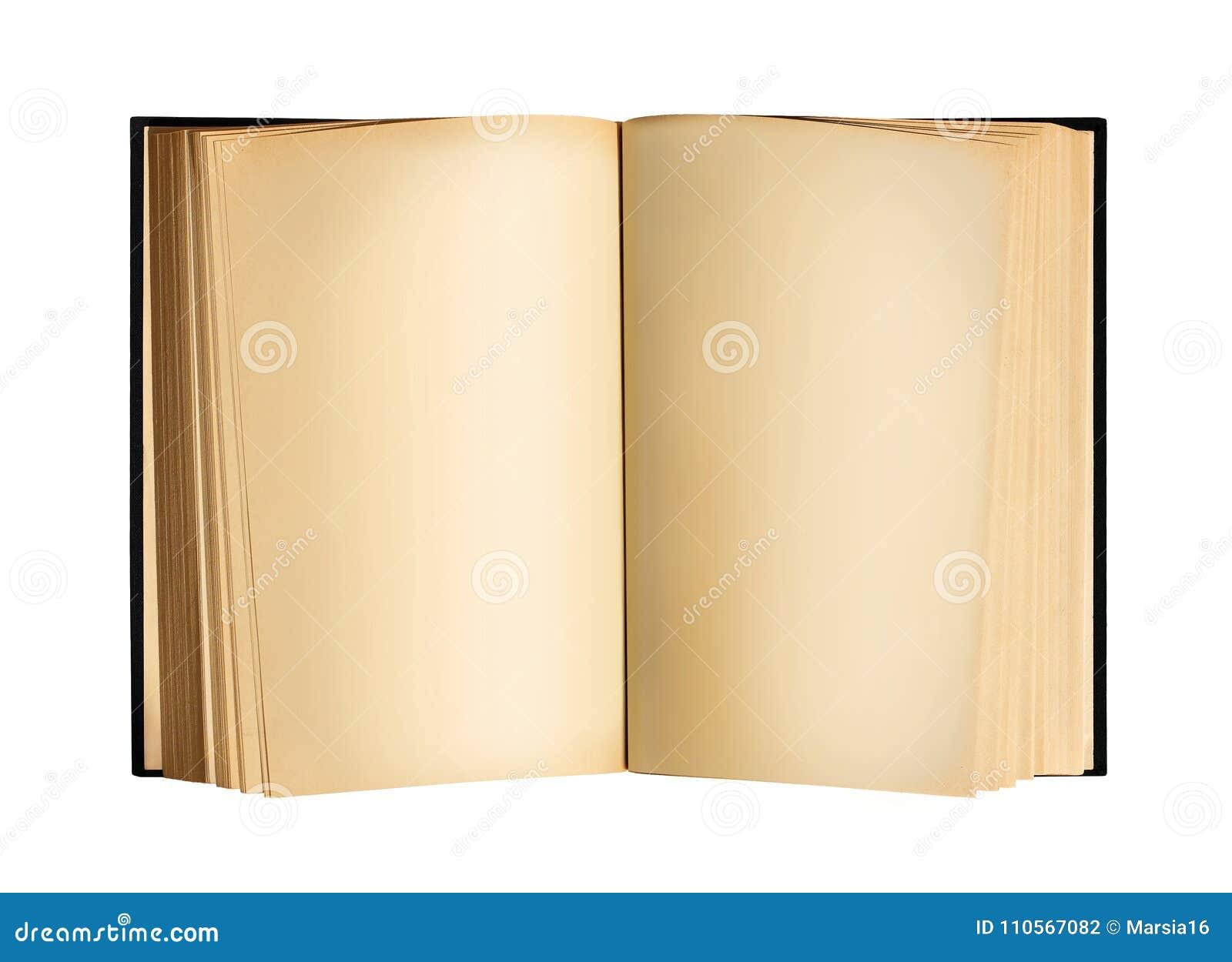 与空白纸的老开放古色古香的书