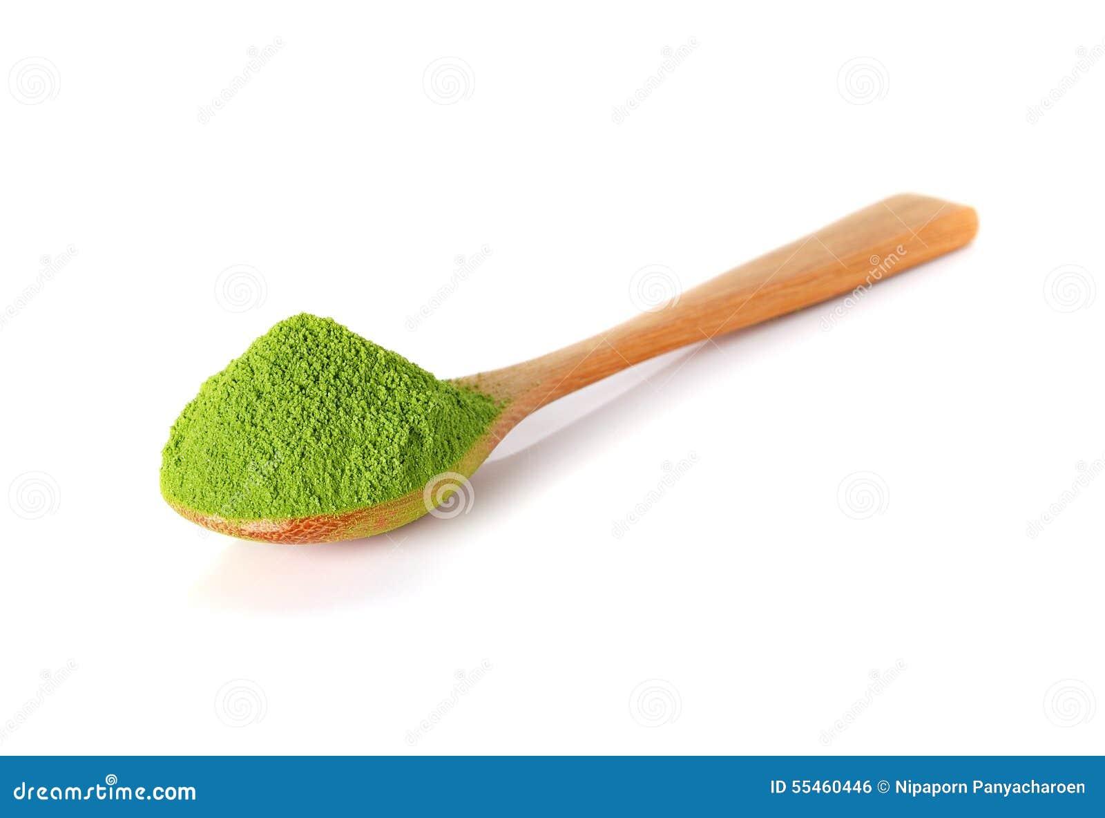 与竹匙子的粉末绿茶