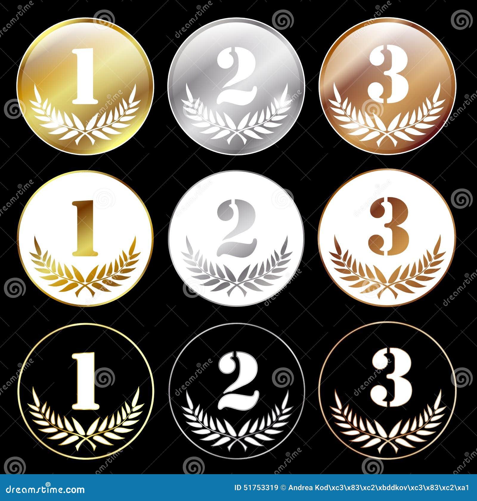 1又2分之1是多少_与第1, 2和3的奖牌