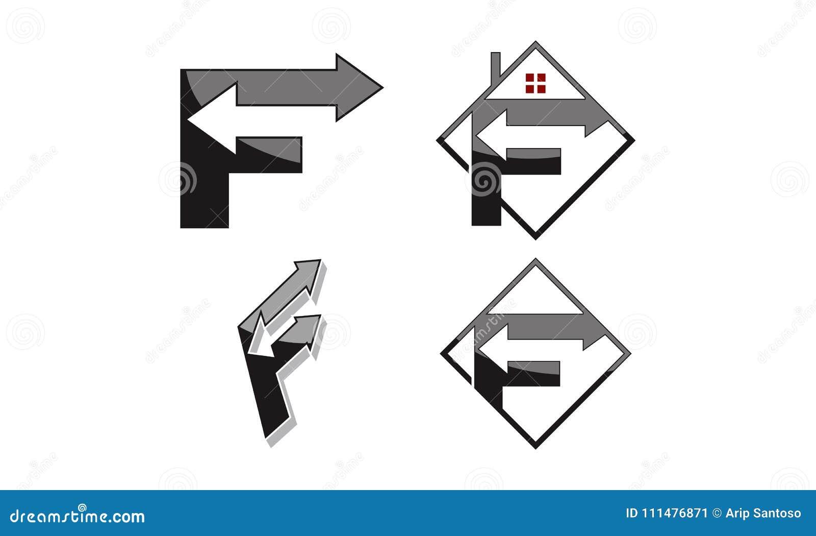 与箭头集合的商标F