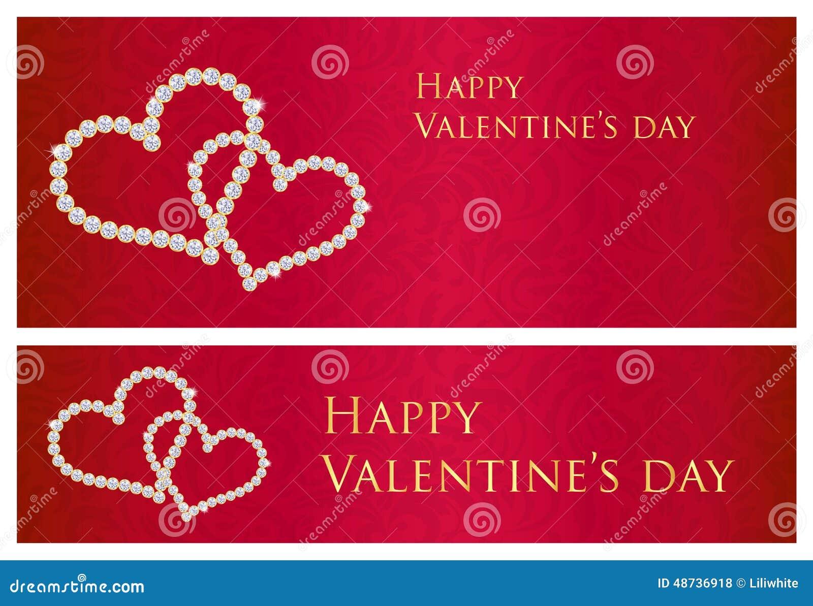 与纠缠的心脏混合涂料的红色华伦泰礼品券