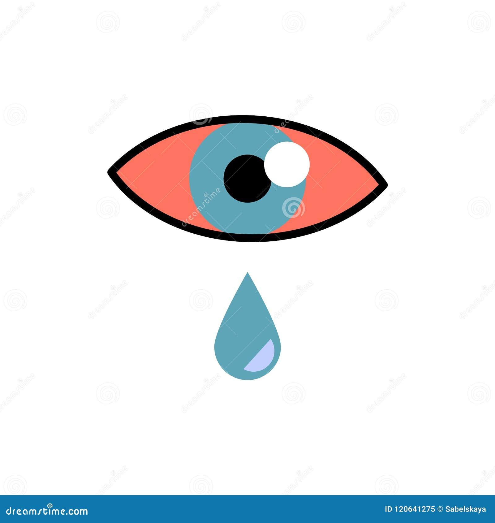 与红色眼睛的结膜炎概念和流泪-内眼膜或过敏膨胀的症状