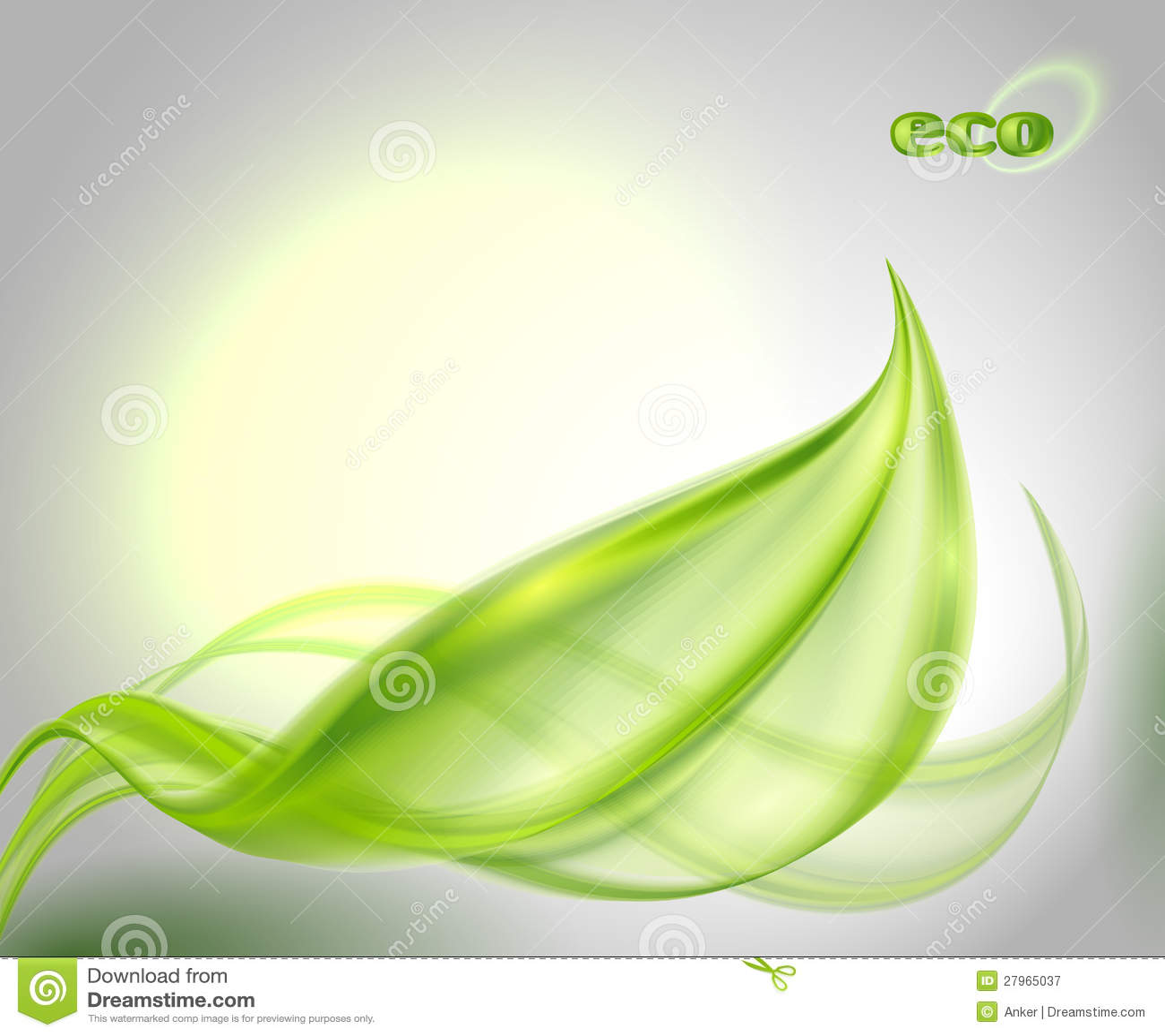 与绿色叶子的抽象背景