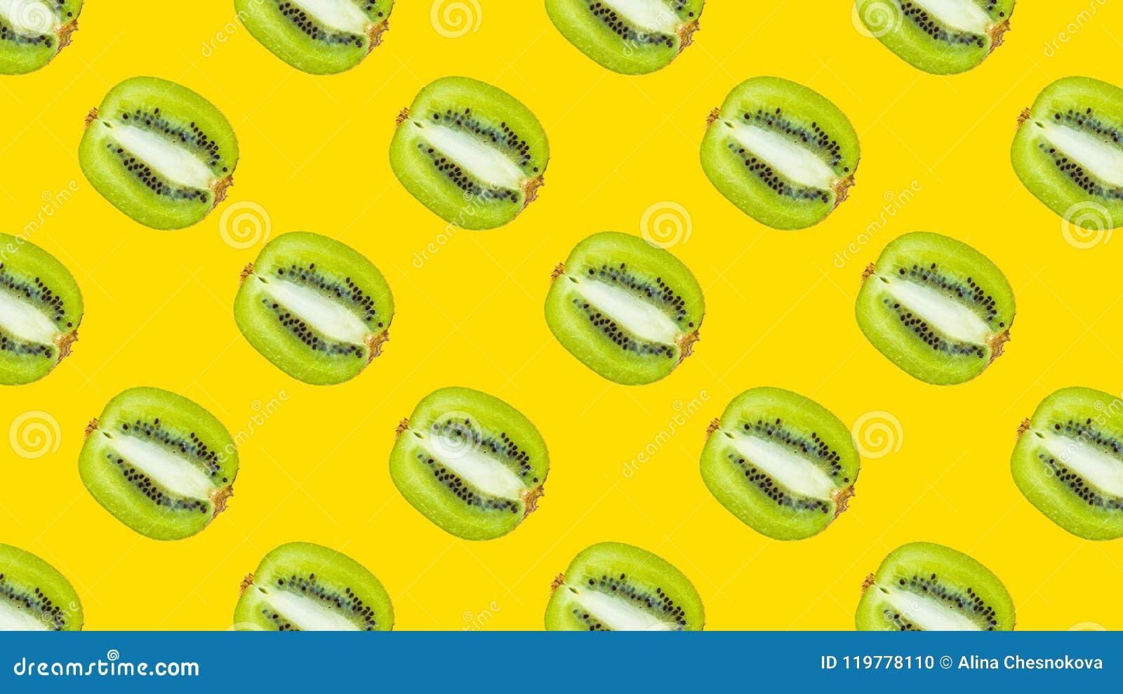 与绿色猕猴桃的一个无缝的样式
