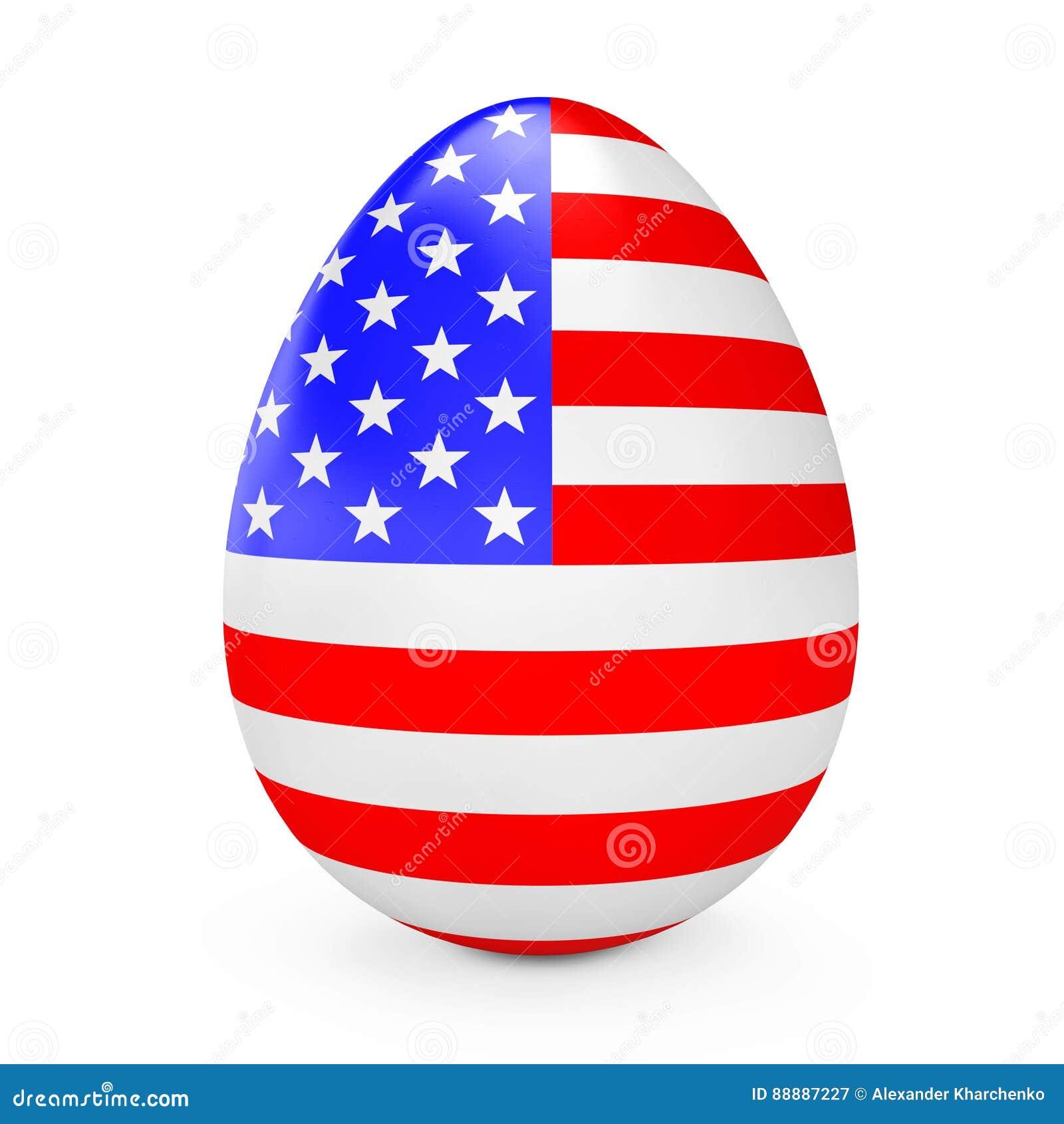 与美国的旗子的复活节彩蛋 3d翻译