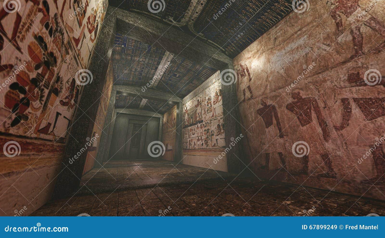 与老wallpaintings的坟茔在古埃及