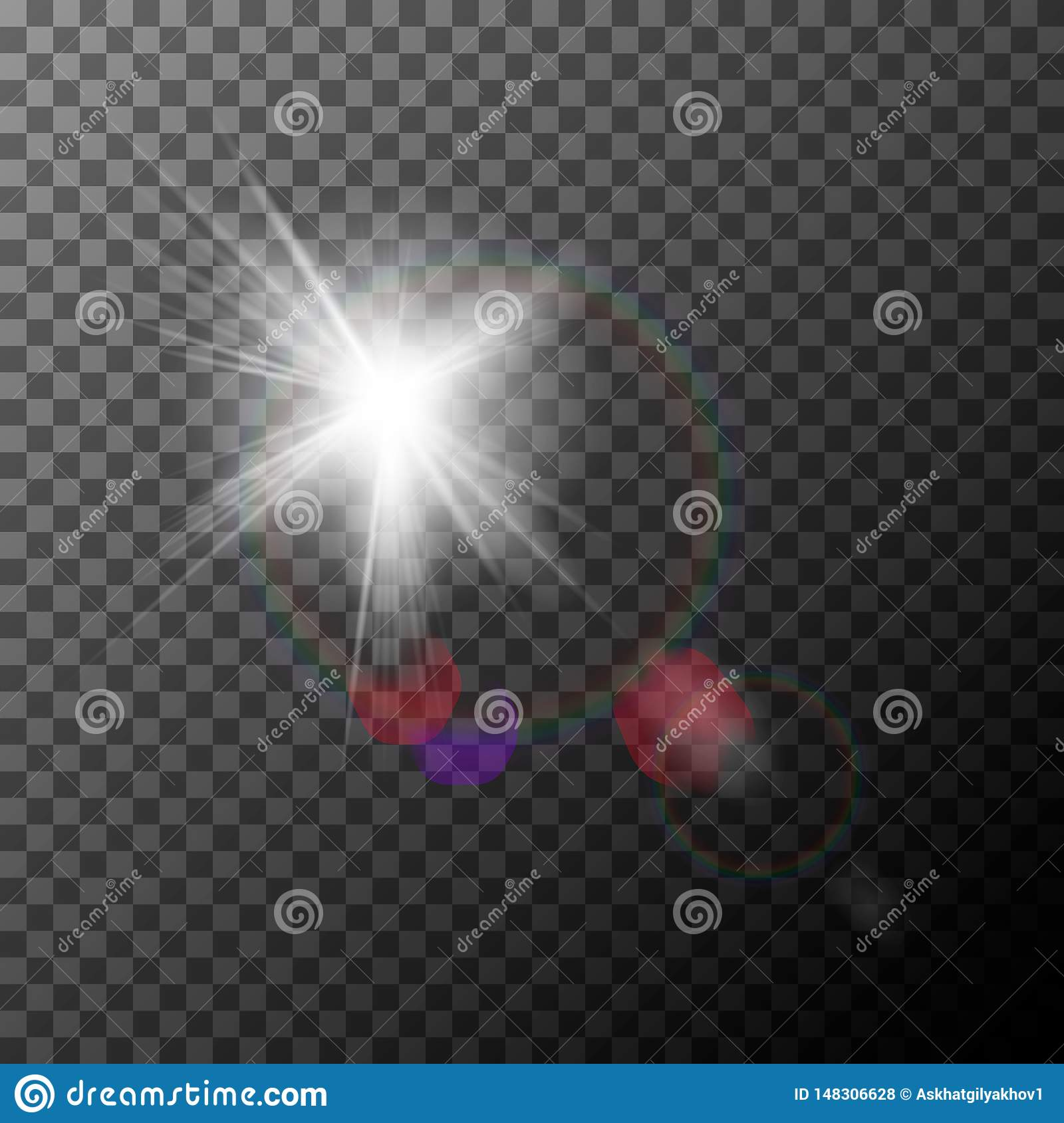 与聚焦的现实透镜火光 r