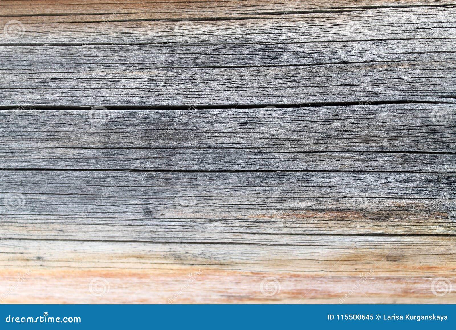 与自然样式的老木纹理 在树背景里面 老脏和被风化的灰色木墙壁板条构造b