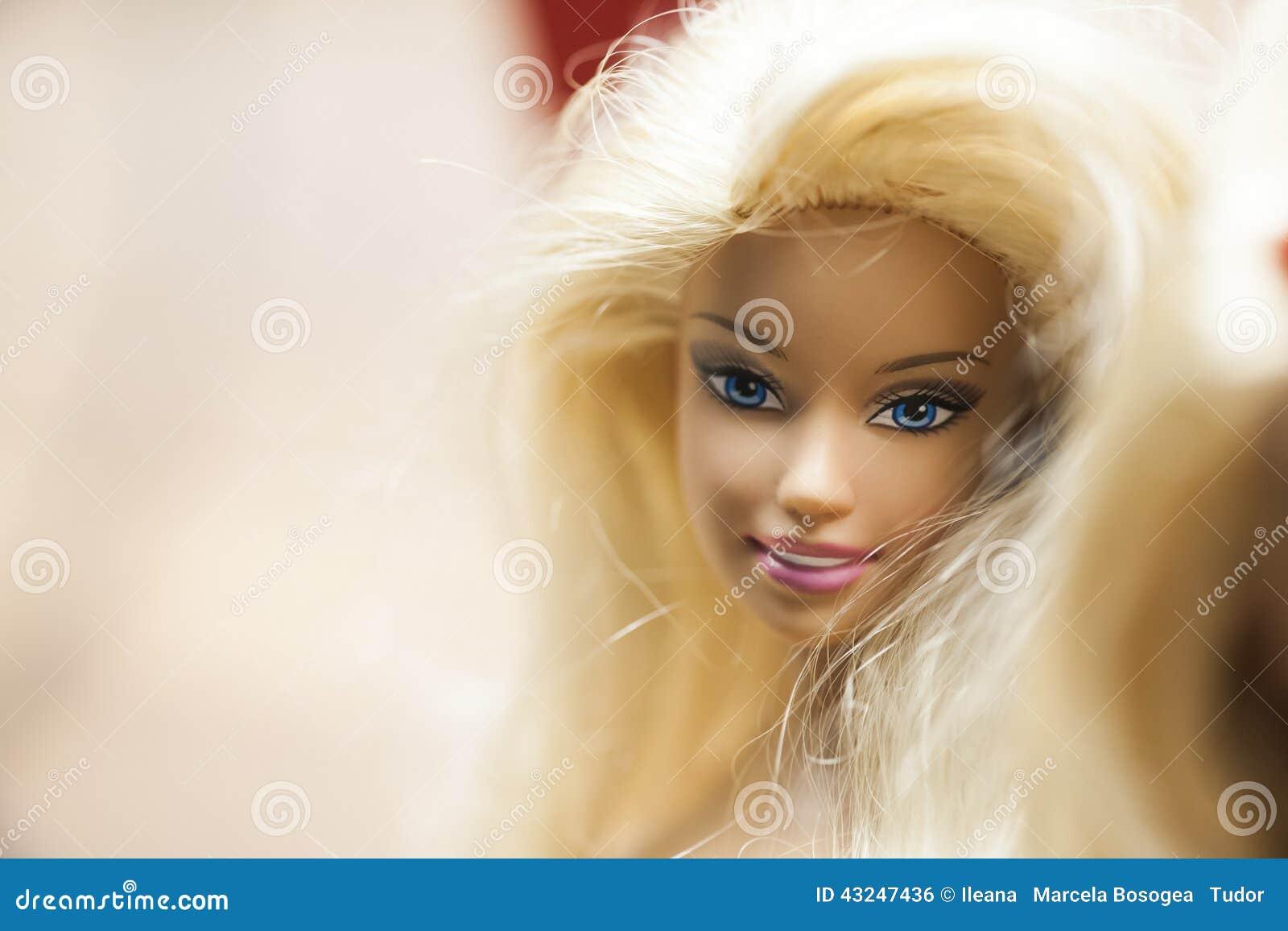 与芭比娃娃玩偶的五颜六色的构成