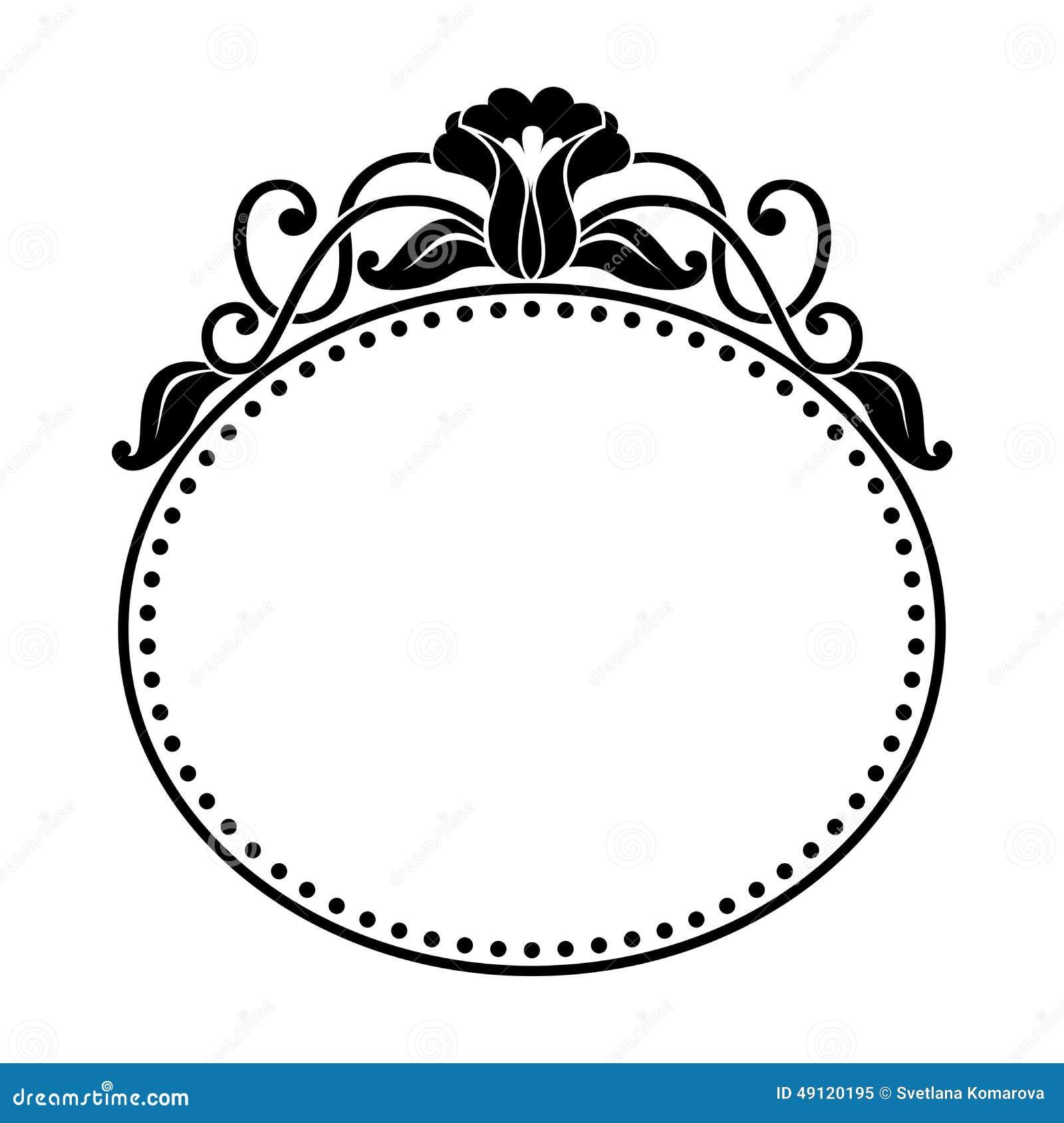 与花卉样式的装饰卵形框架 库存例证 插画 包括有 与花卉样式的装饰卵形框架  49120195