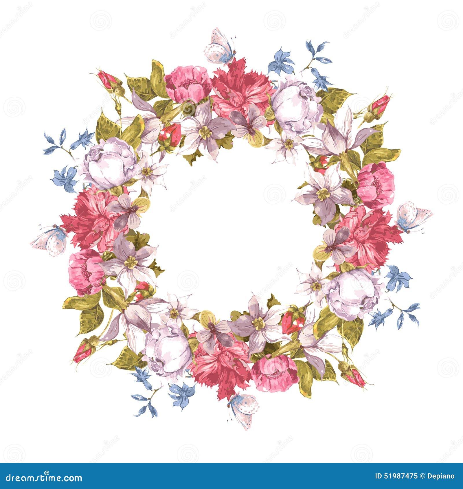 与花卉花圈的邀请卡片 库存图片 图片 包括有 框架 春天 自治权 华伦泰 看板卡 国界的 圈子