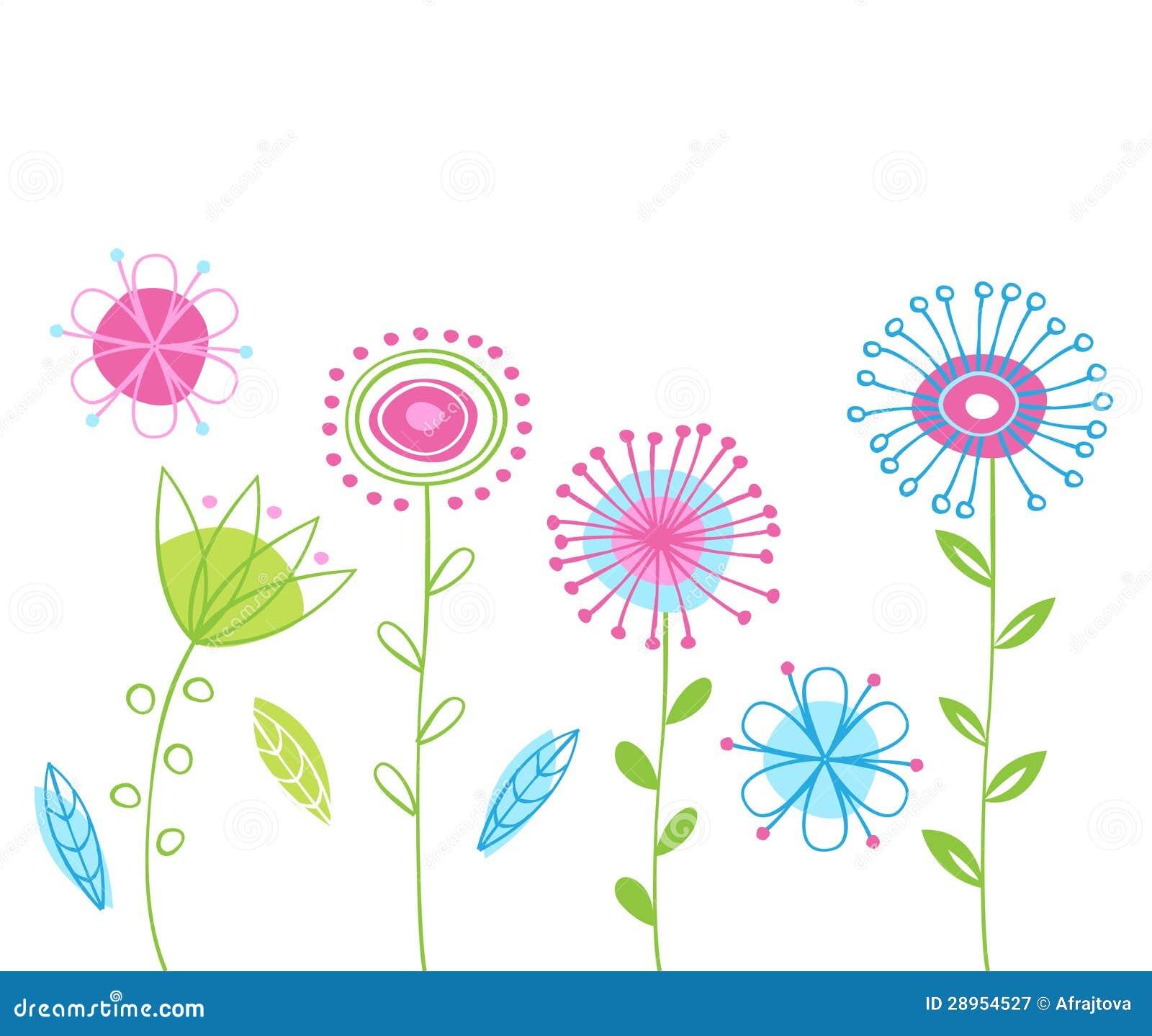与花的春天背景