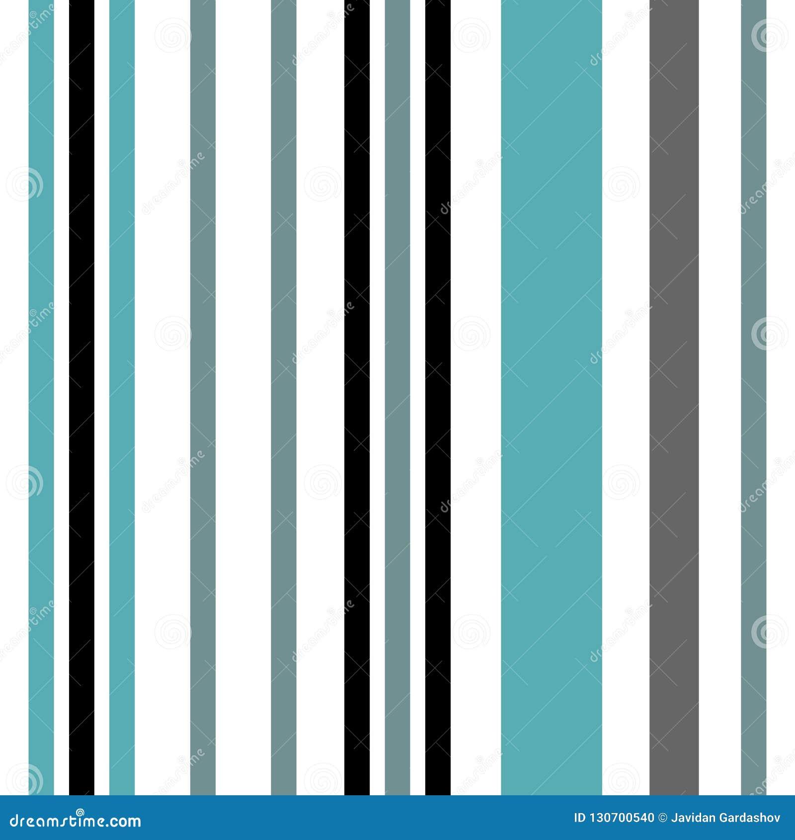 与蓝色和白色垂直的平行的条纹的条纹无缝的样式 传染媒介摘要样式条纹背景