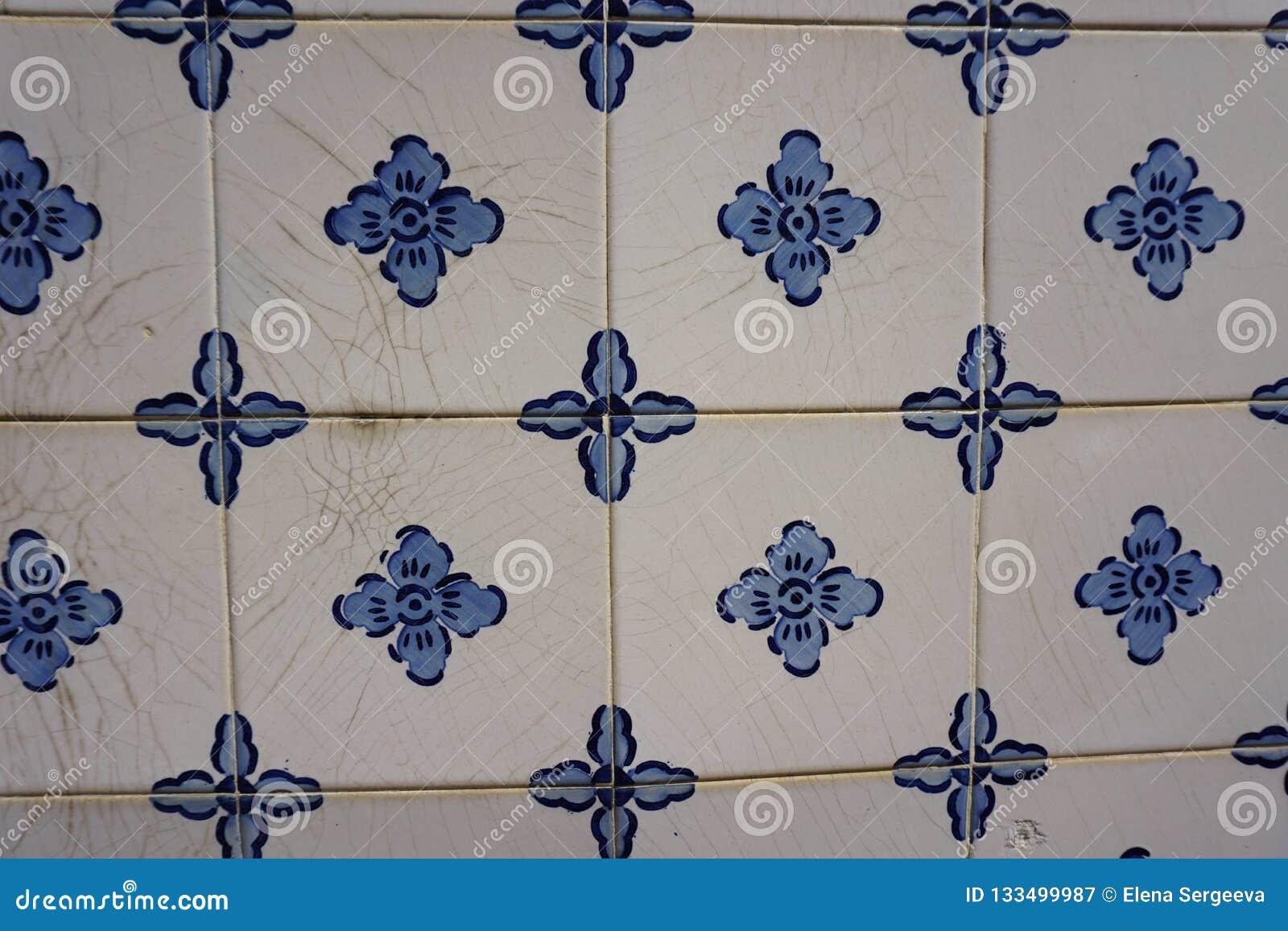 与蓝色花的Azulejos