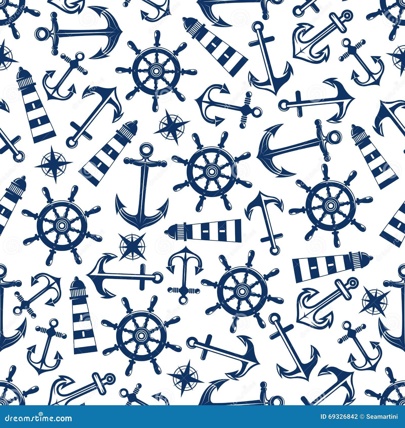 与蓝色项目的海洋无缝的样式