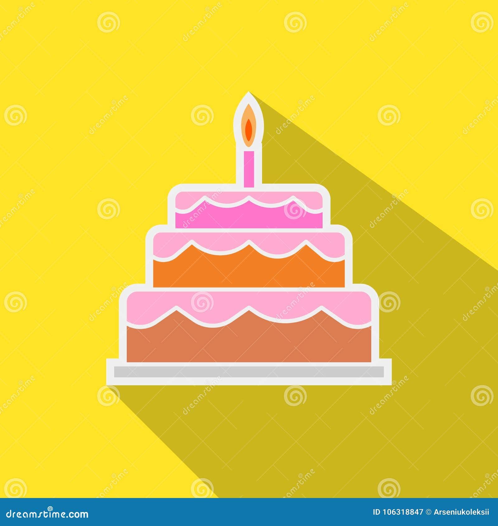 与蜡烛贴纸的蛋糕